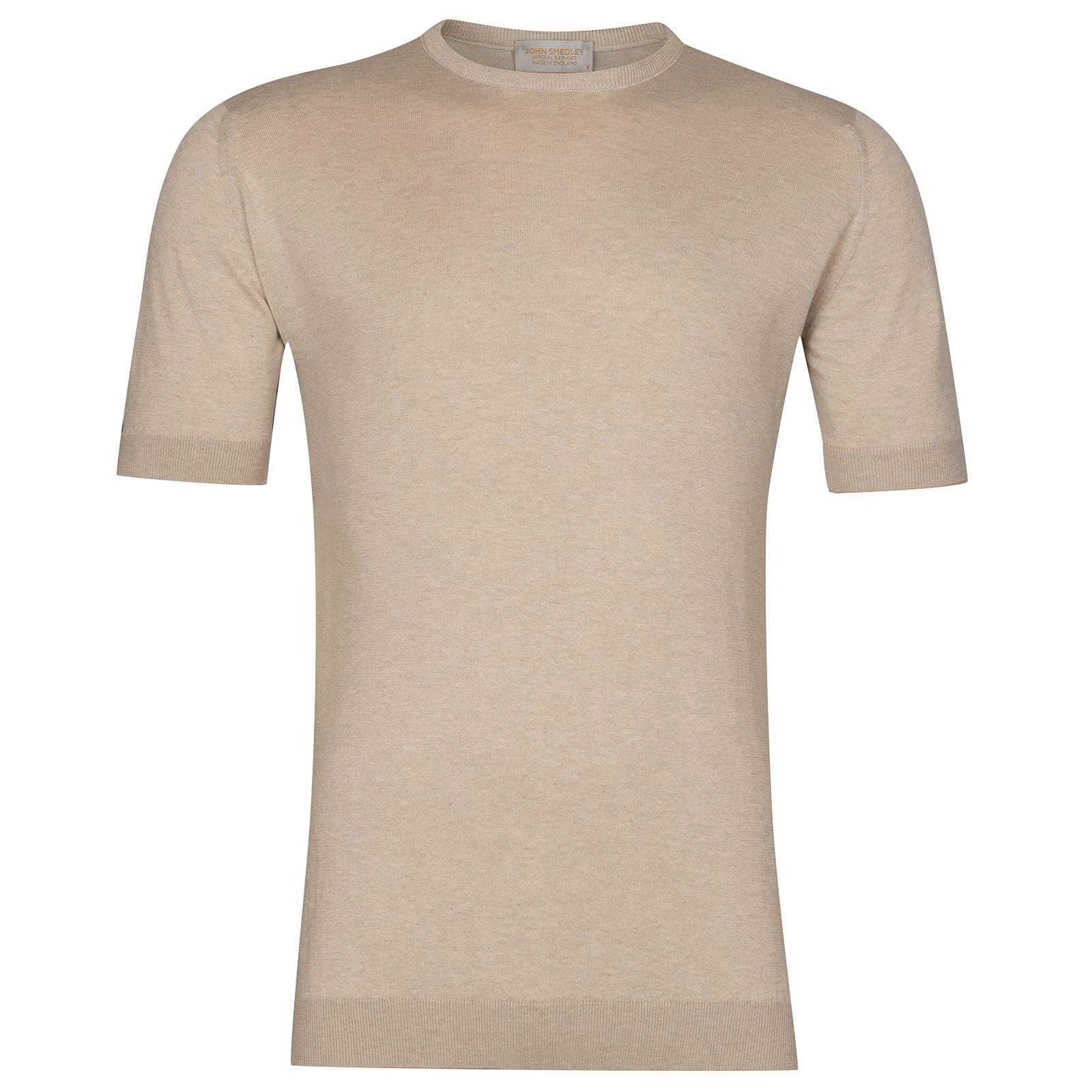 John Smedley Stonwell in Sandstone T-Shirt-MED