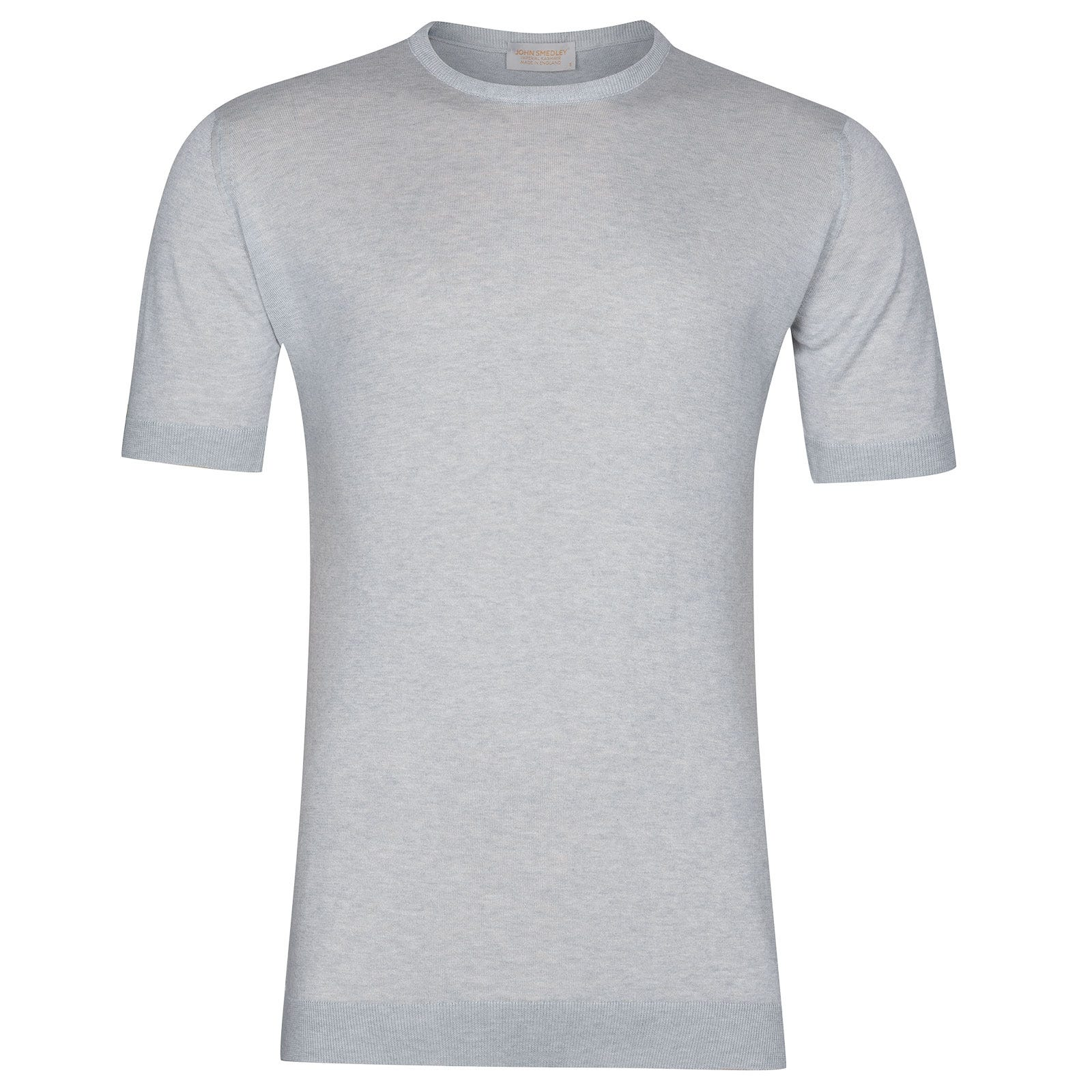 John Smedley Stonwell in Silver T-Shirt-XLG