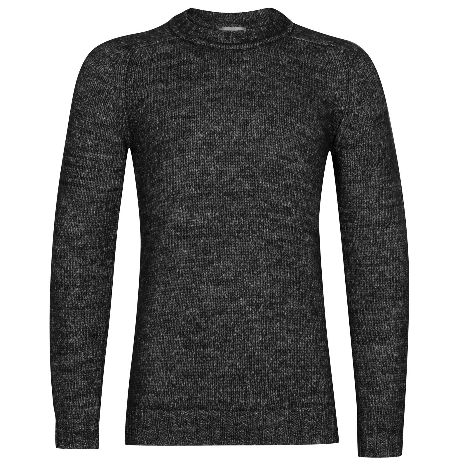 John Smedley storr Alpaca, Wool & Cotton Pullover in Black-XL