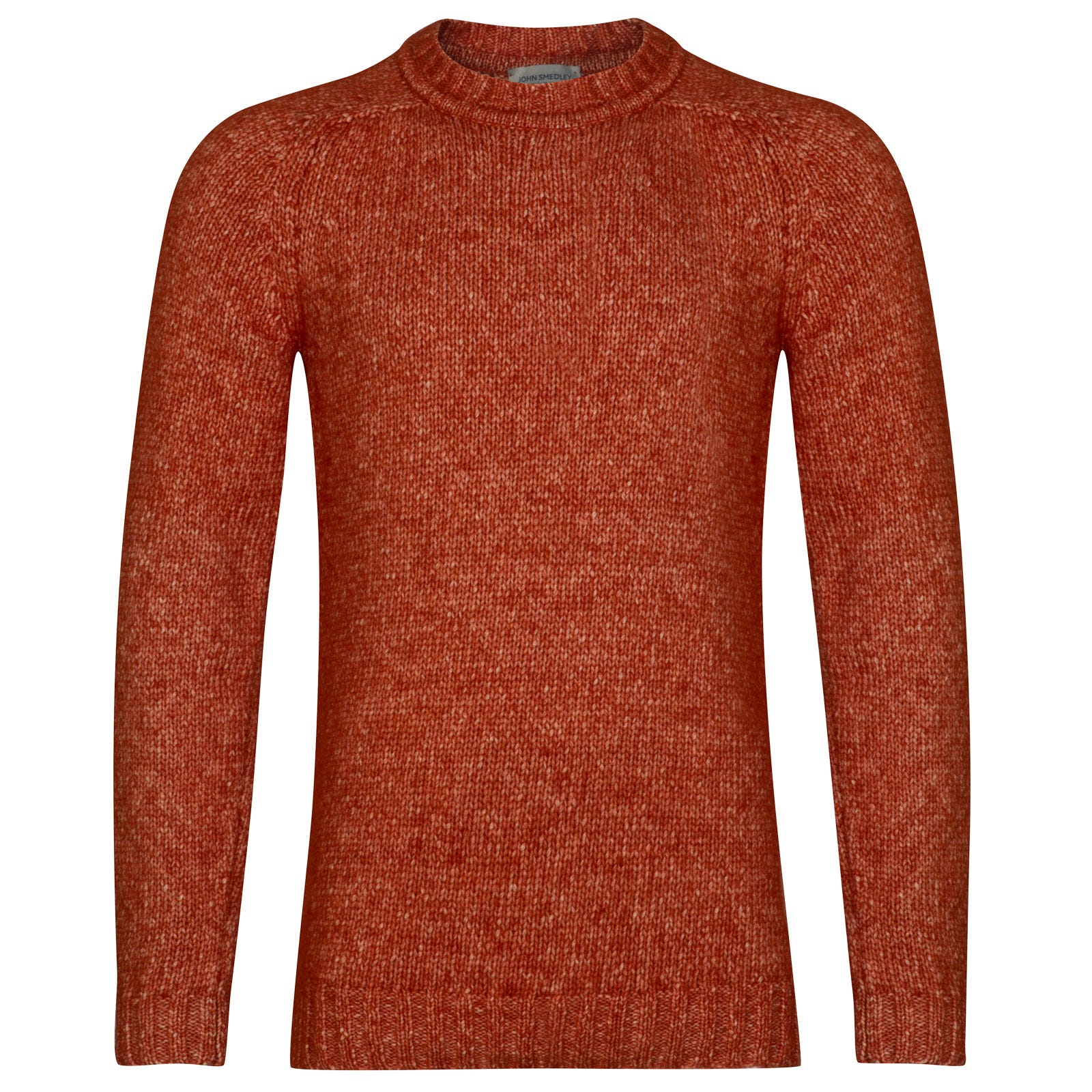 John Smedley storr Alpaca, Wool & Cotton Pullover in Flare Orange-M
