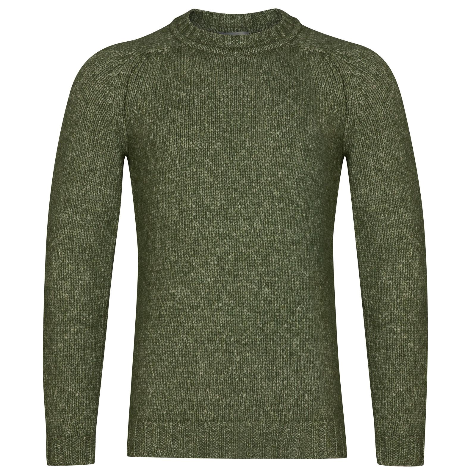 John Smedley storr Alpaca, Wool & Cotton Pullover in Kielder Green-XXL