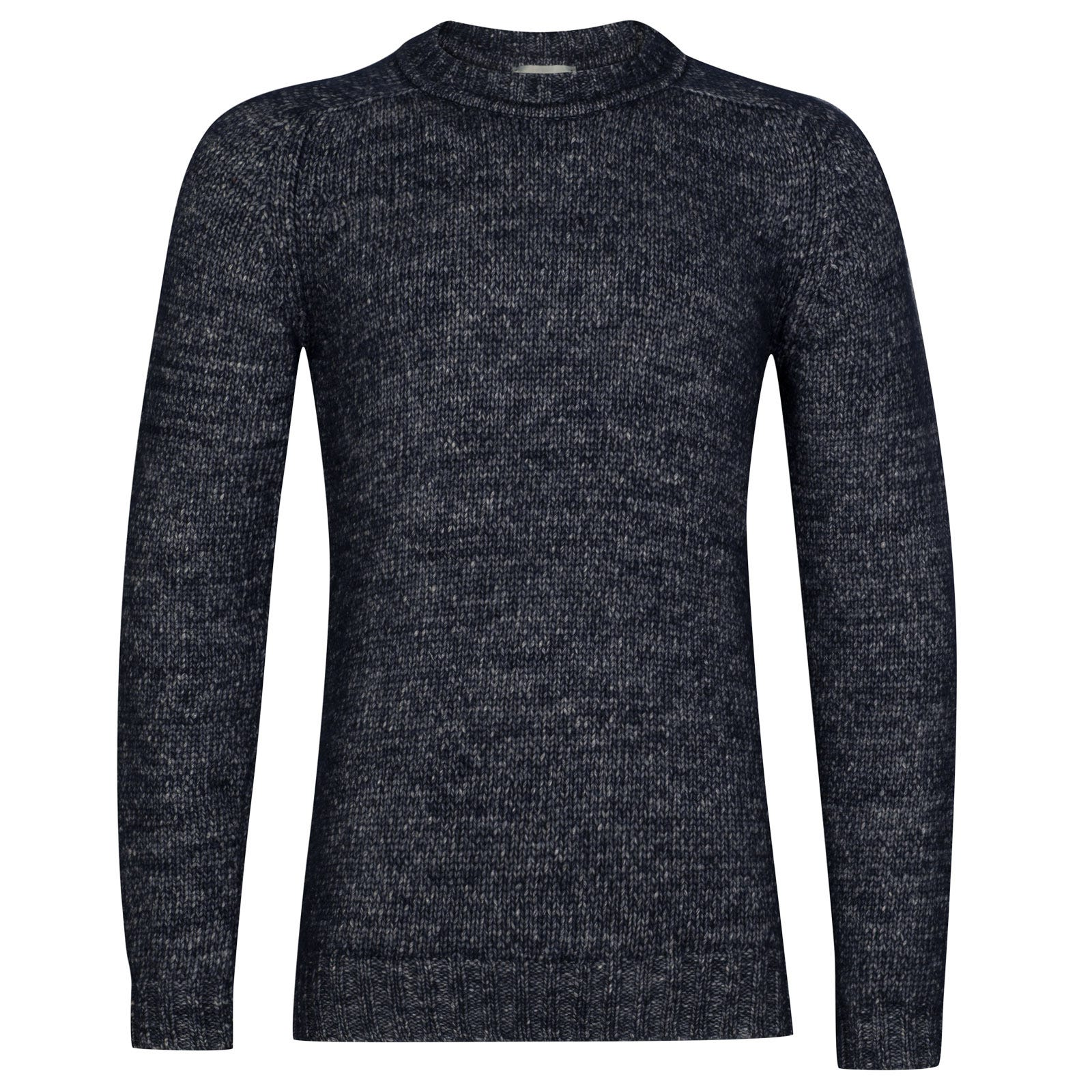 John Smedley storr Alpaca, Wool & Cotton Pullover in midnight-XXL