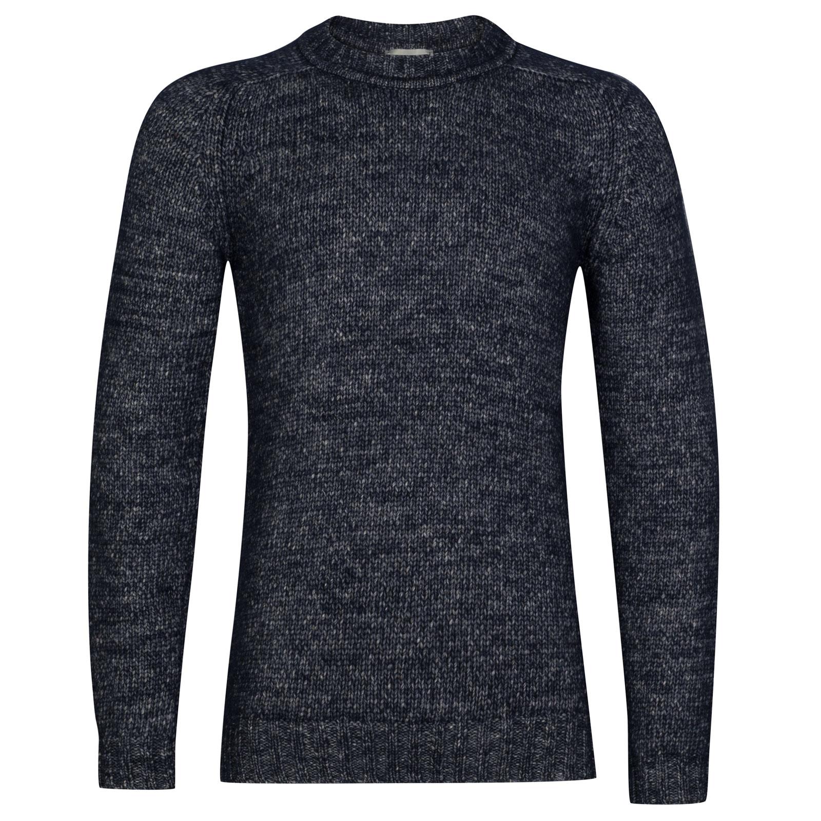 John Smedley storr Alpaca, Wool & Cotton Pullover in midnight-L