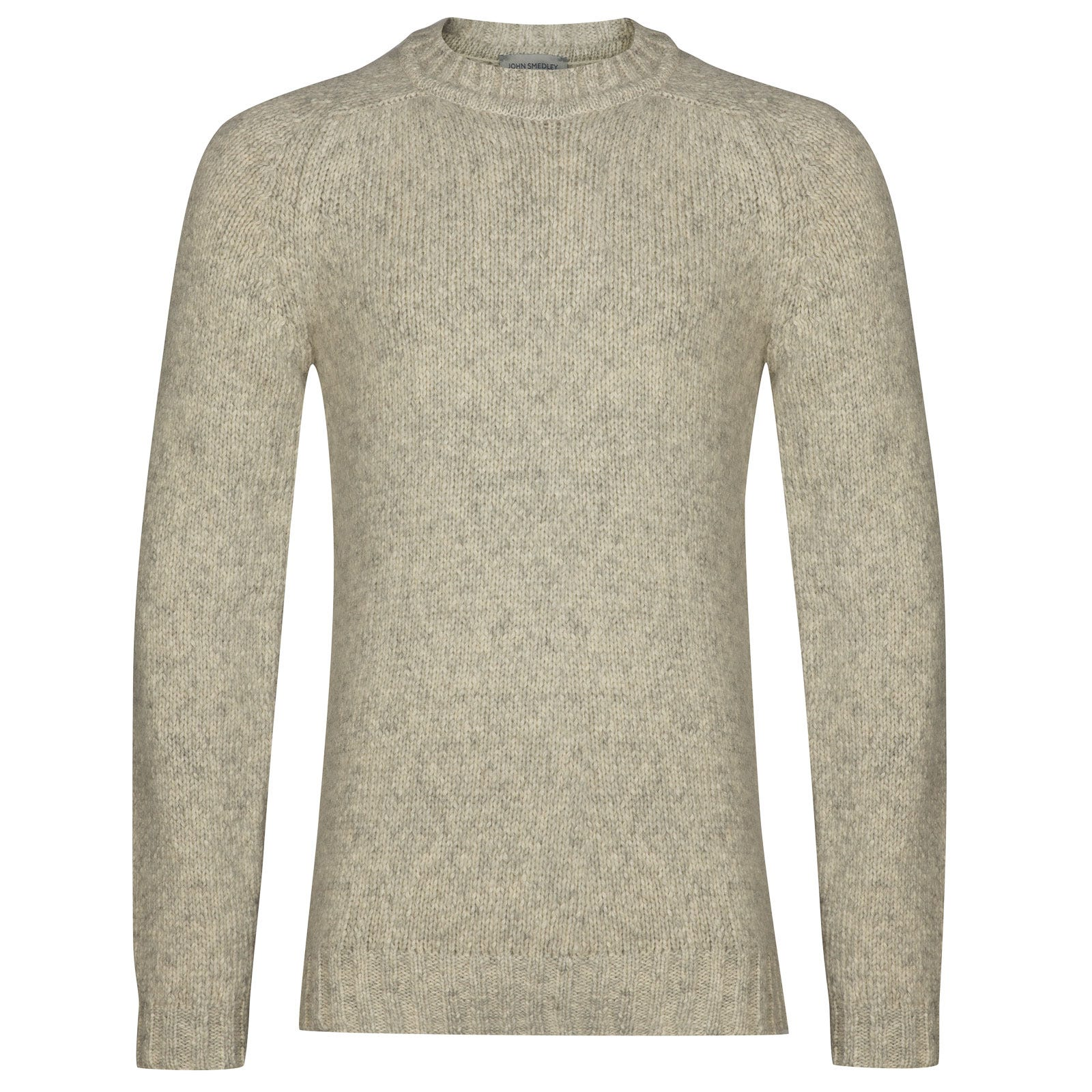 John Smedley storr Alpaca, Wool & Cotton Pullover in Silver-M
