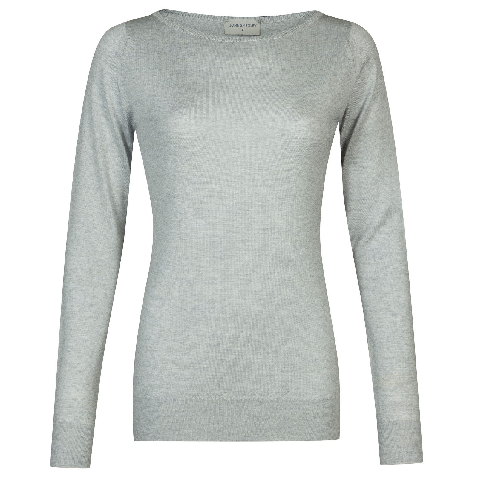 John Smedley susan Merino Wool Sweater in Bardot Grey-M
