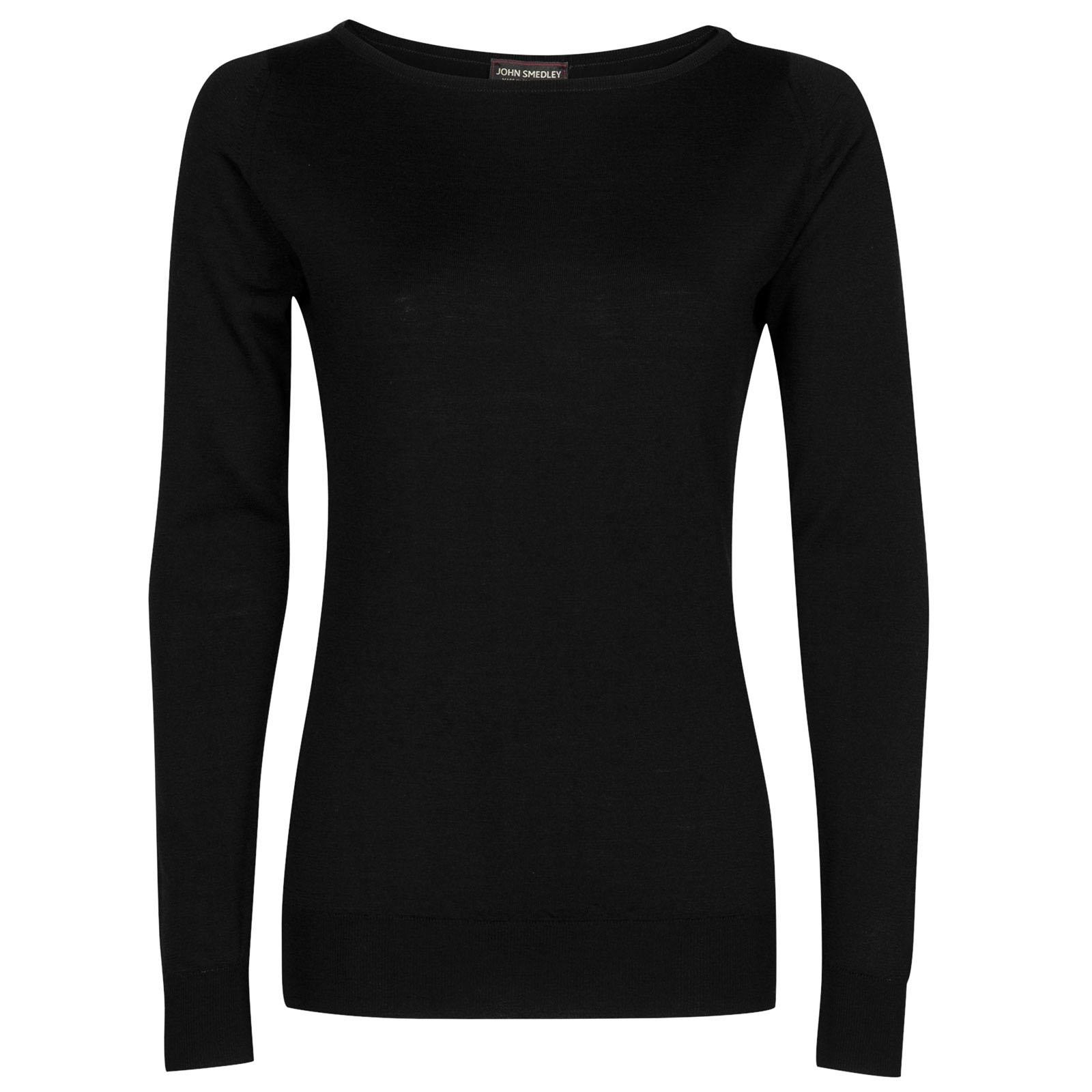 John Smedley susan Merino Wool Sweater in Black-XL