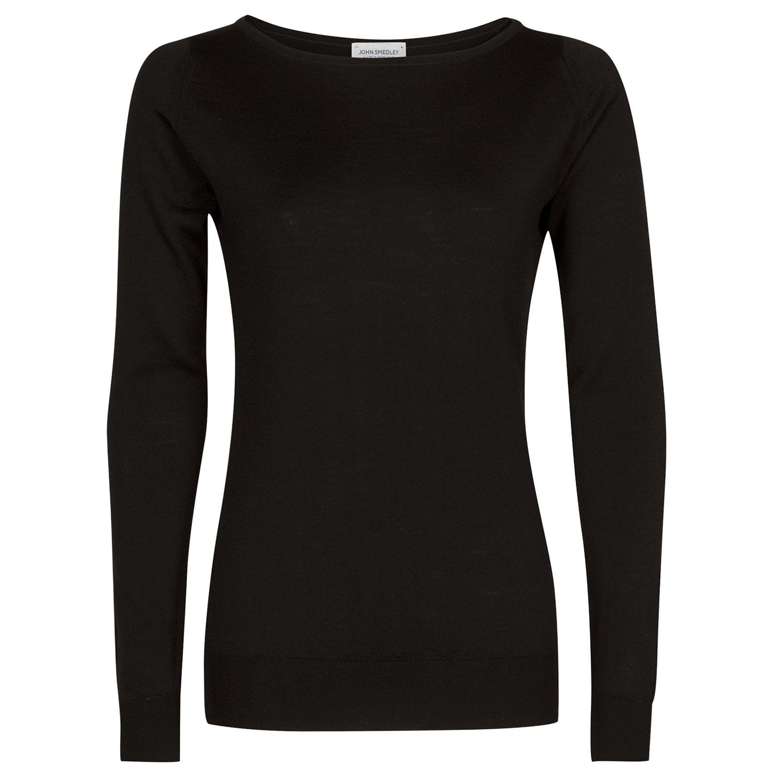 John Smedley susan Merino Wool Sweater in Black-S
