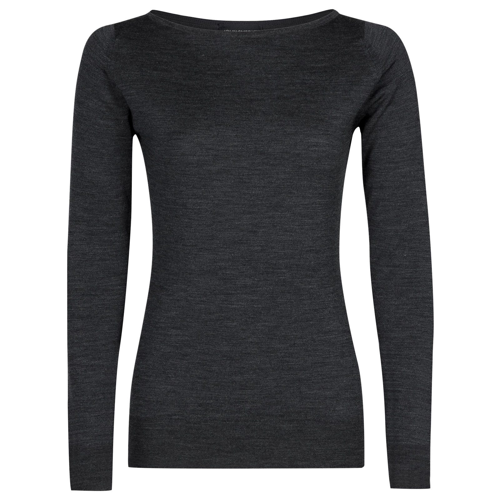 John Smedley susan Merino Wool Sweater in Charcoal-XL