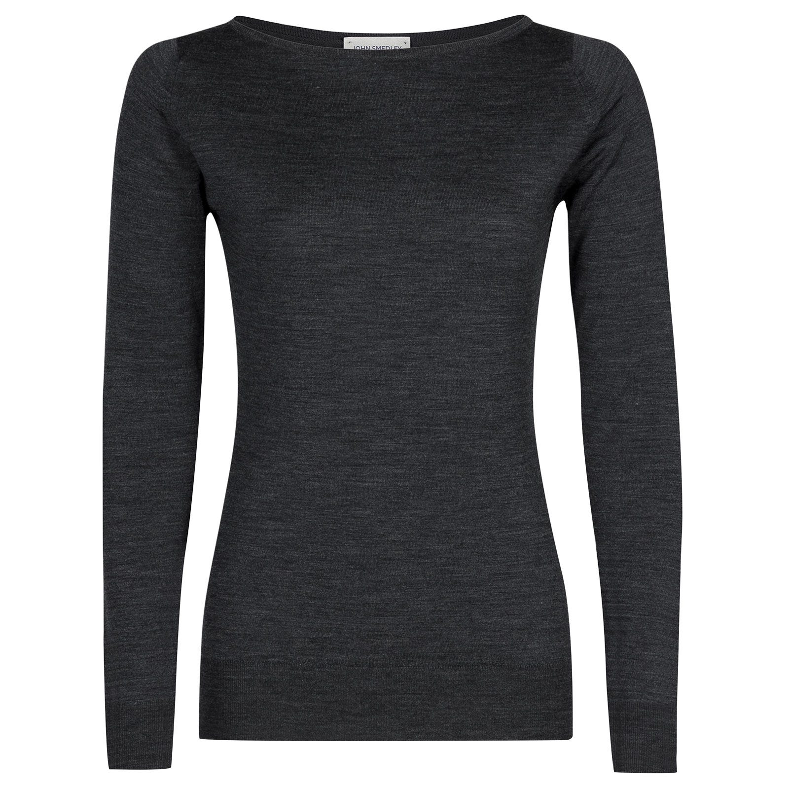 John Smedley susan Merino Wool Sweater in Charcoal-L