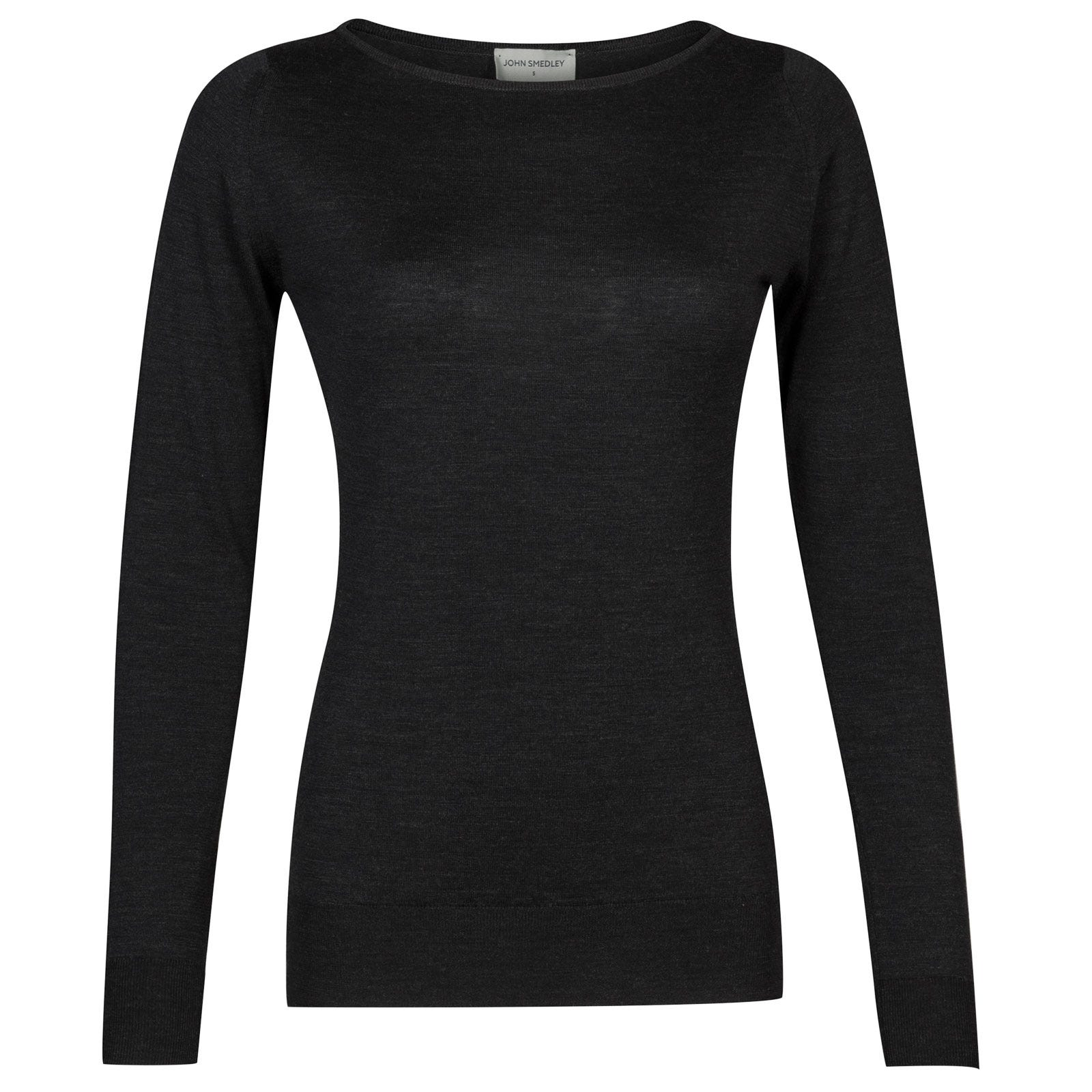 John Smedley susan Merino Wool Sweater in Hepburn Smoke-L