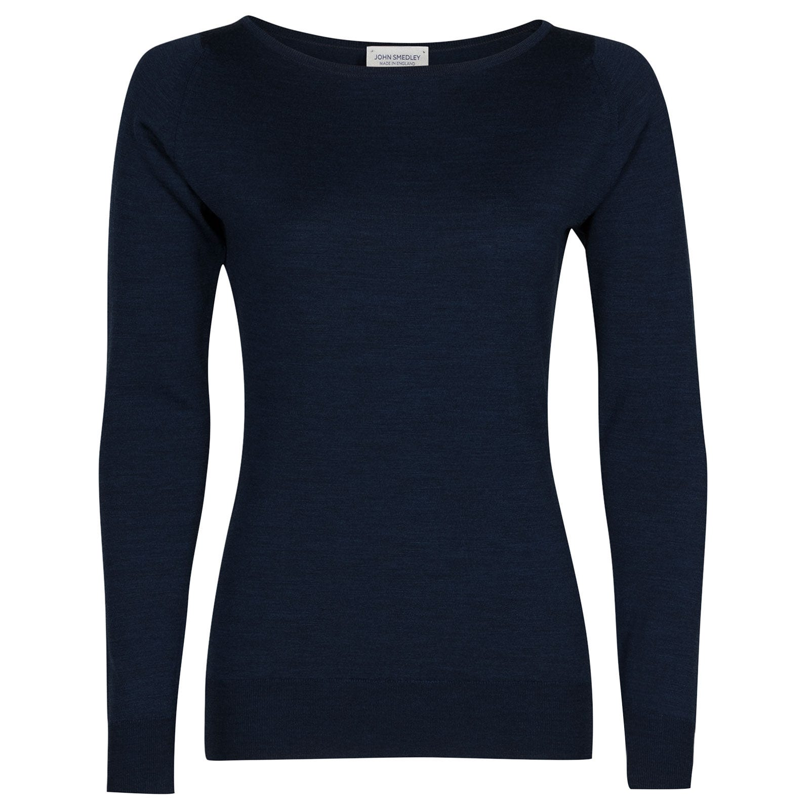 John Smedley susan Merino Wool Sweater in Indigo-XL
