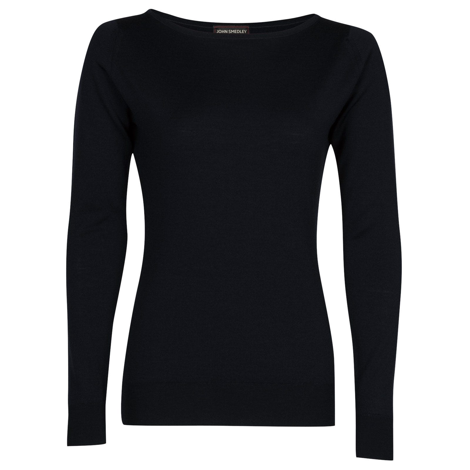 John Smedley susan Merino Wool Sweater in Midnight-XL