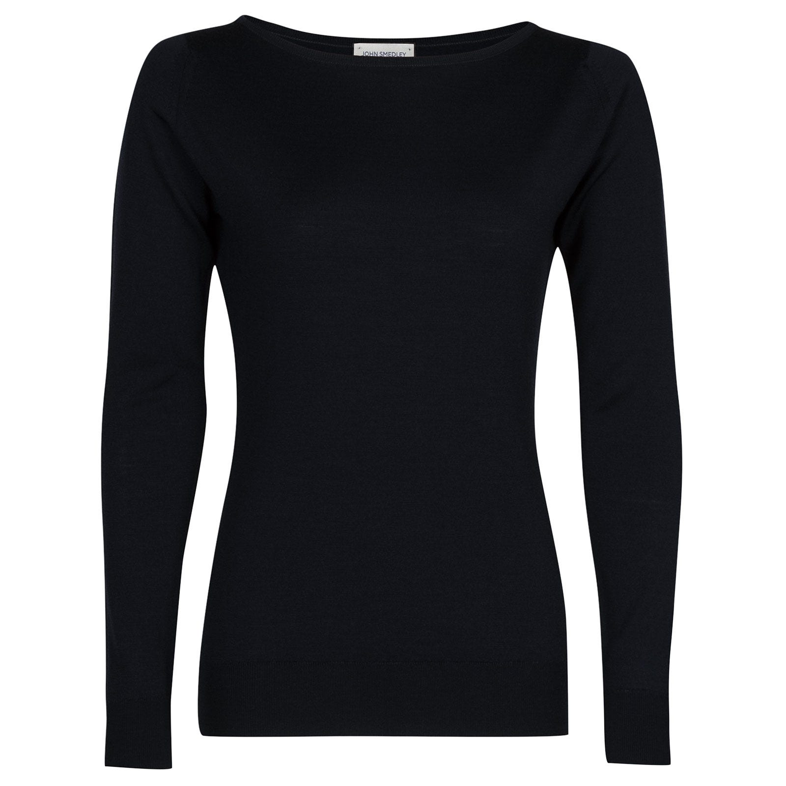 John Smedley susan Merino Wool Sweater in Midnight-M