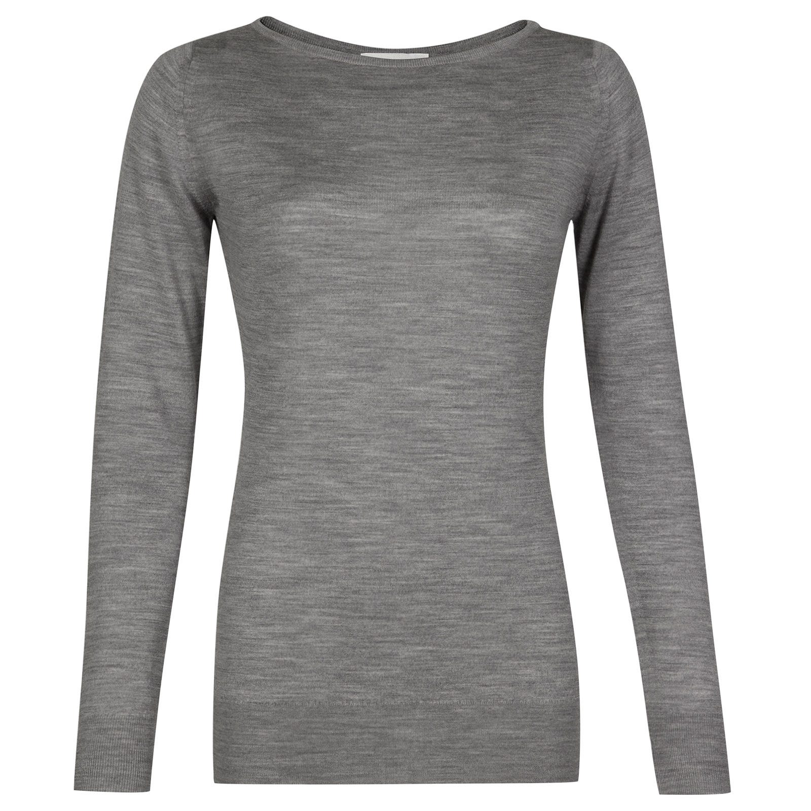 John Smedley susan Merino Wool Sweater in Silver-XL