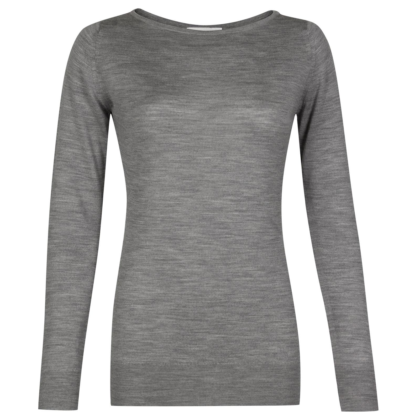John Smedley susan Merino Wool Sweater in Silver-L