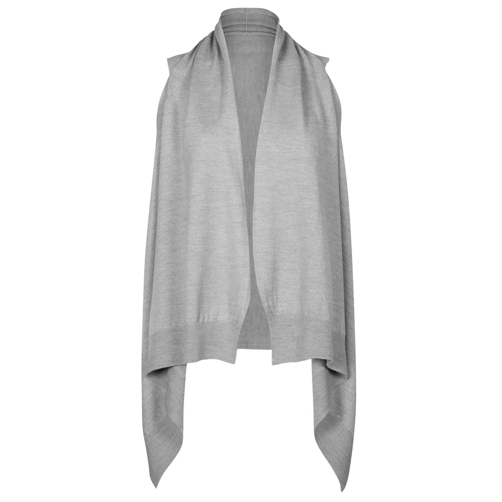 John Smedley talla Merino Wool Cardigan in Bardot Grey-S