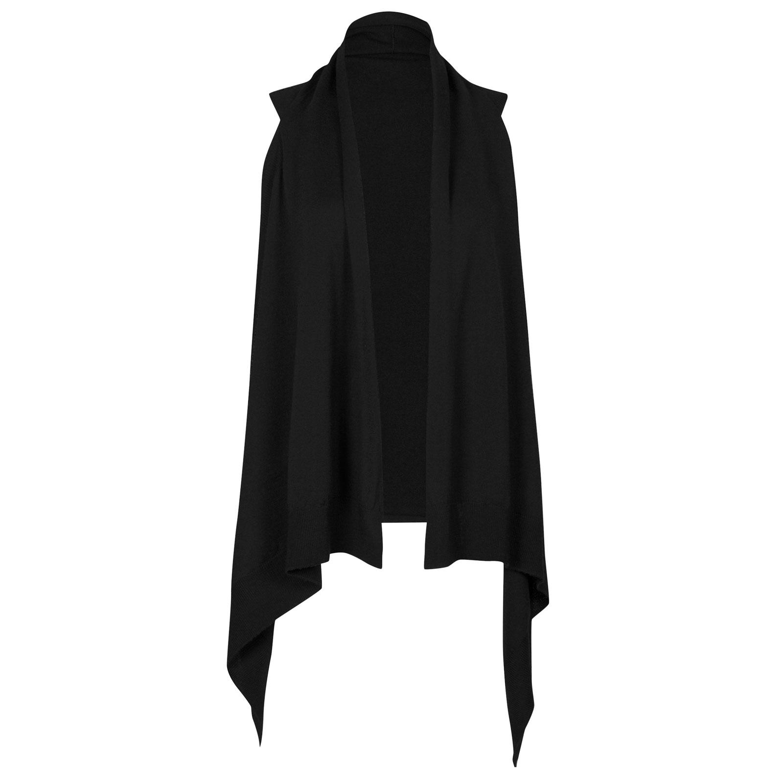 John Smedley talla Merino Wool Cardigan in Black-M