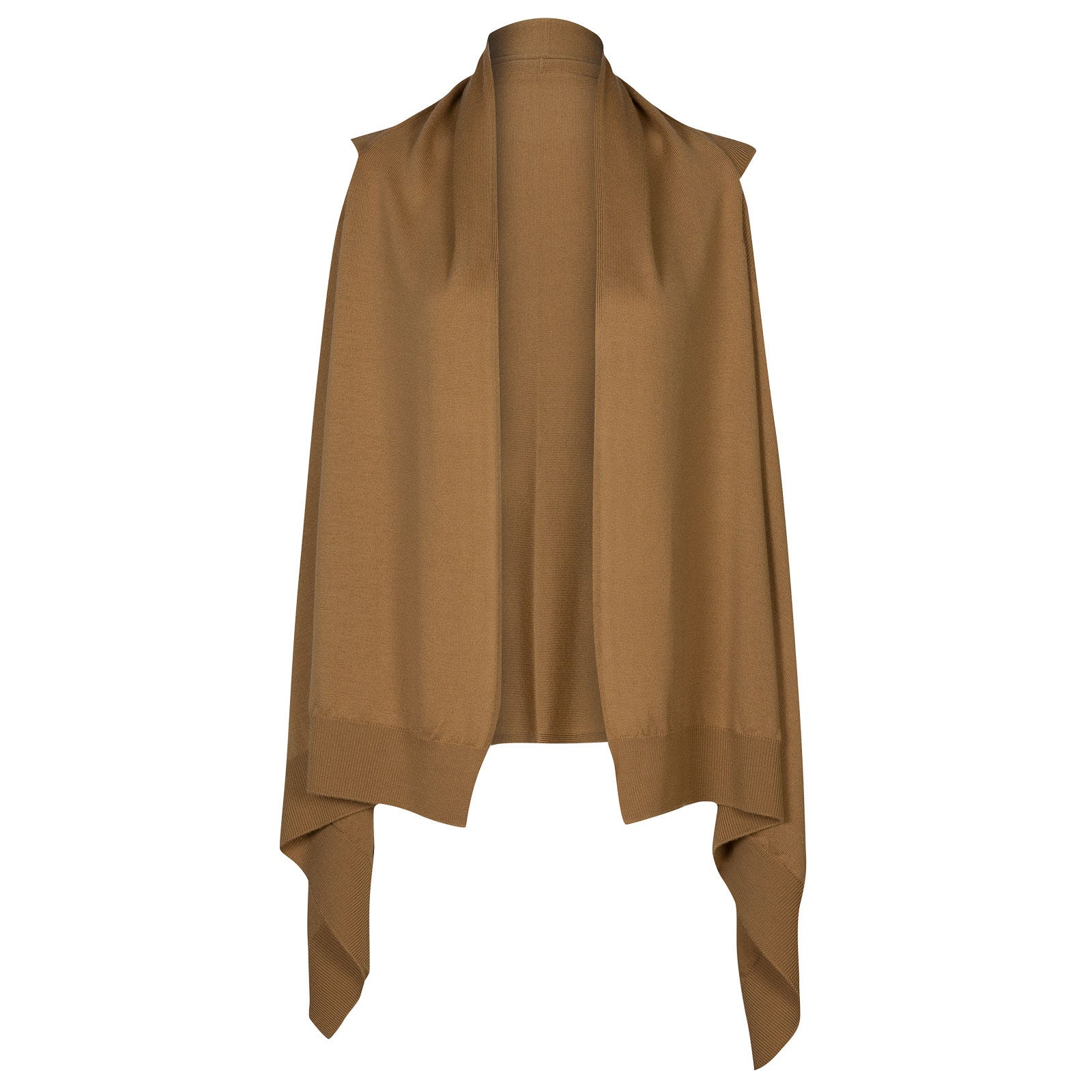 John Smedley Talla Merino Wool Cardigan in Camel-S