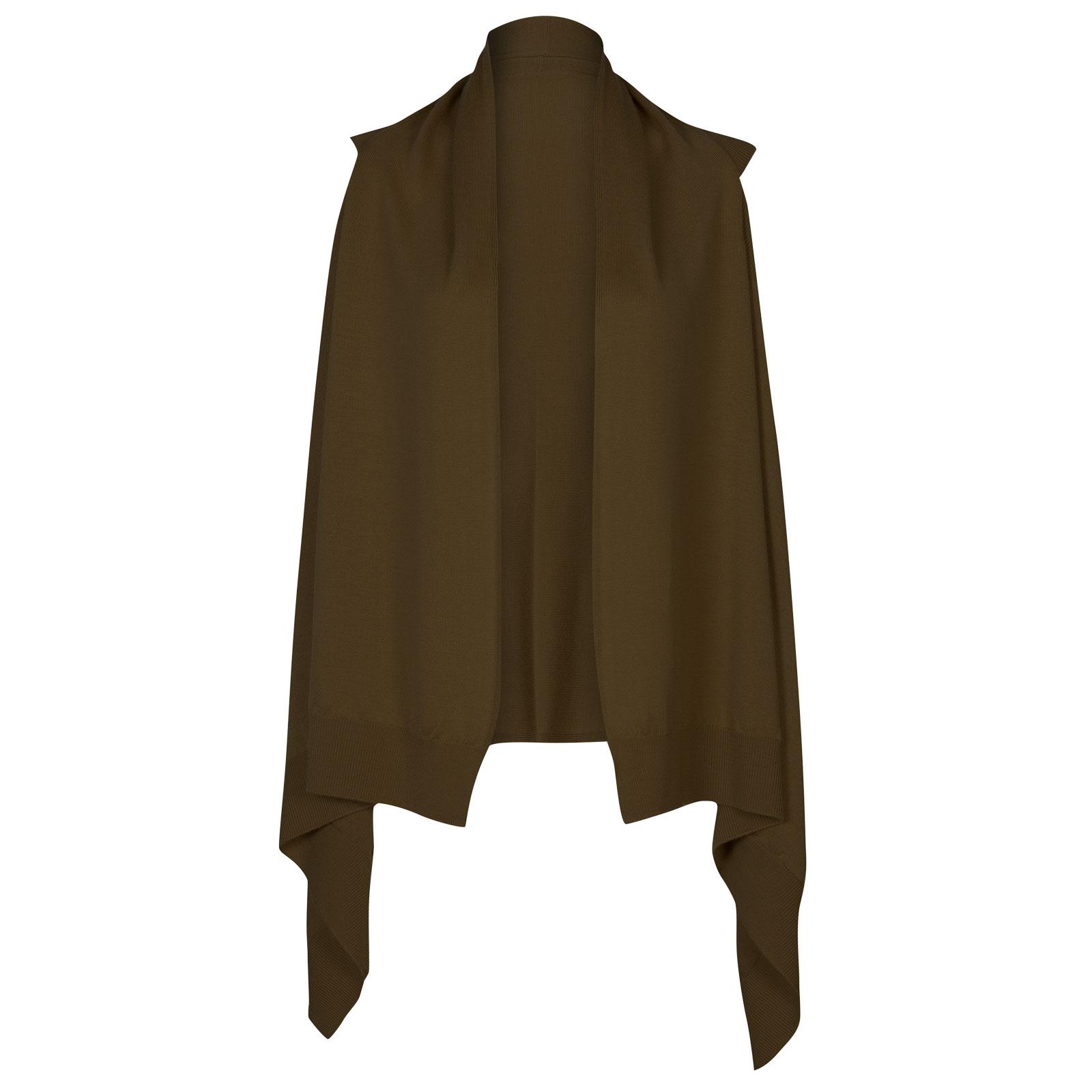John Smedley talla Merino Wool Cardigan in Kielder Green-M