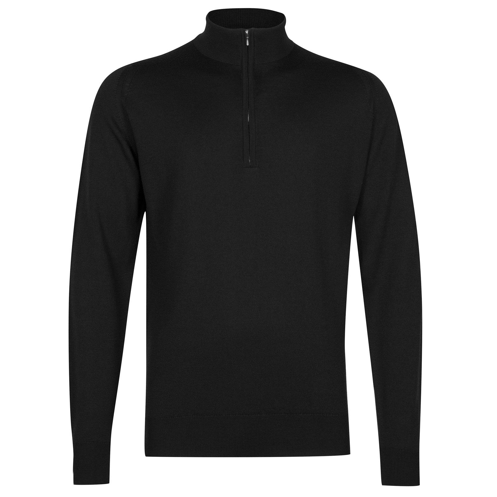 John Smedley tapton Merino Wool Pullover in Black-L