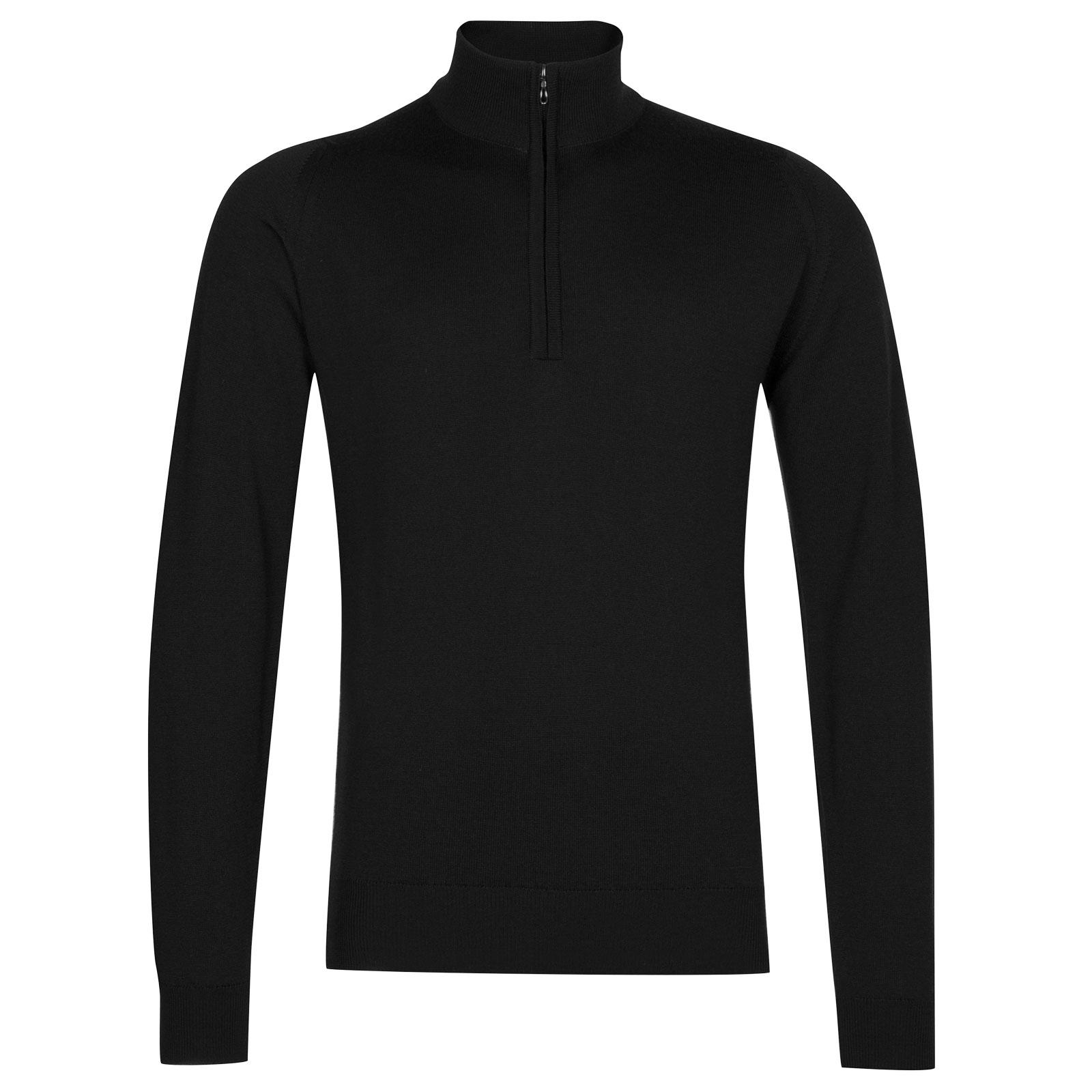 John Smedley tapton Merino Wool Pullover in Black-S