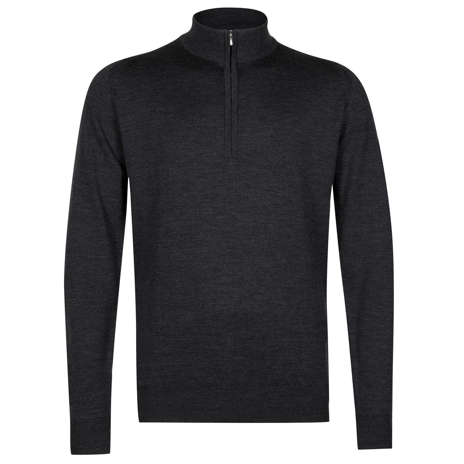John Smedley tapton Merino Wool Pullover in Charcoal-S