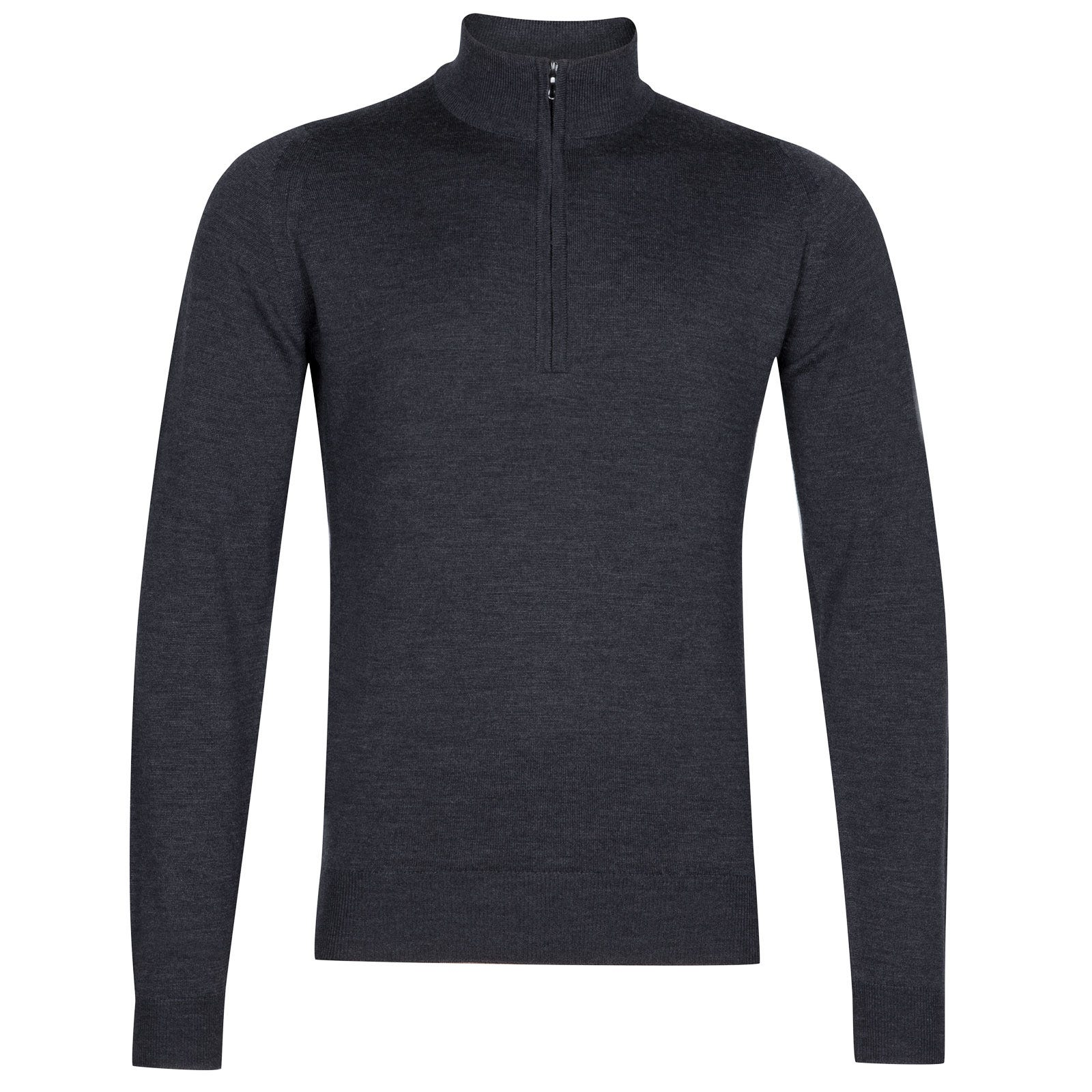 John Smedley tapton Merino Wool Pullover in Charcoal-XXL