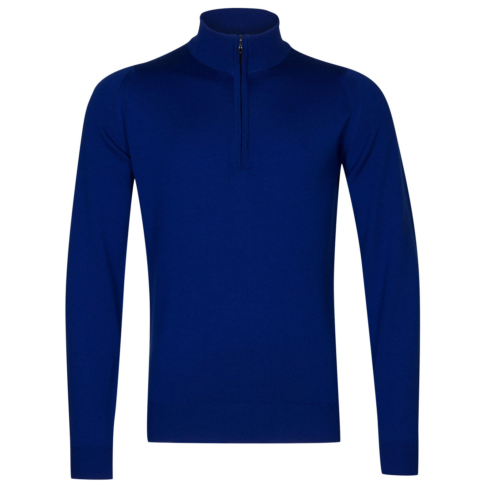 John Smedley tapton Merino Wool Pullover in Coniston Blue-L