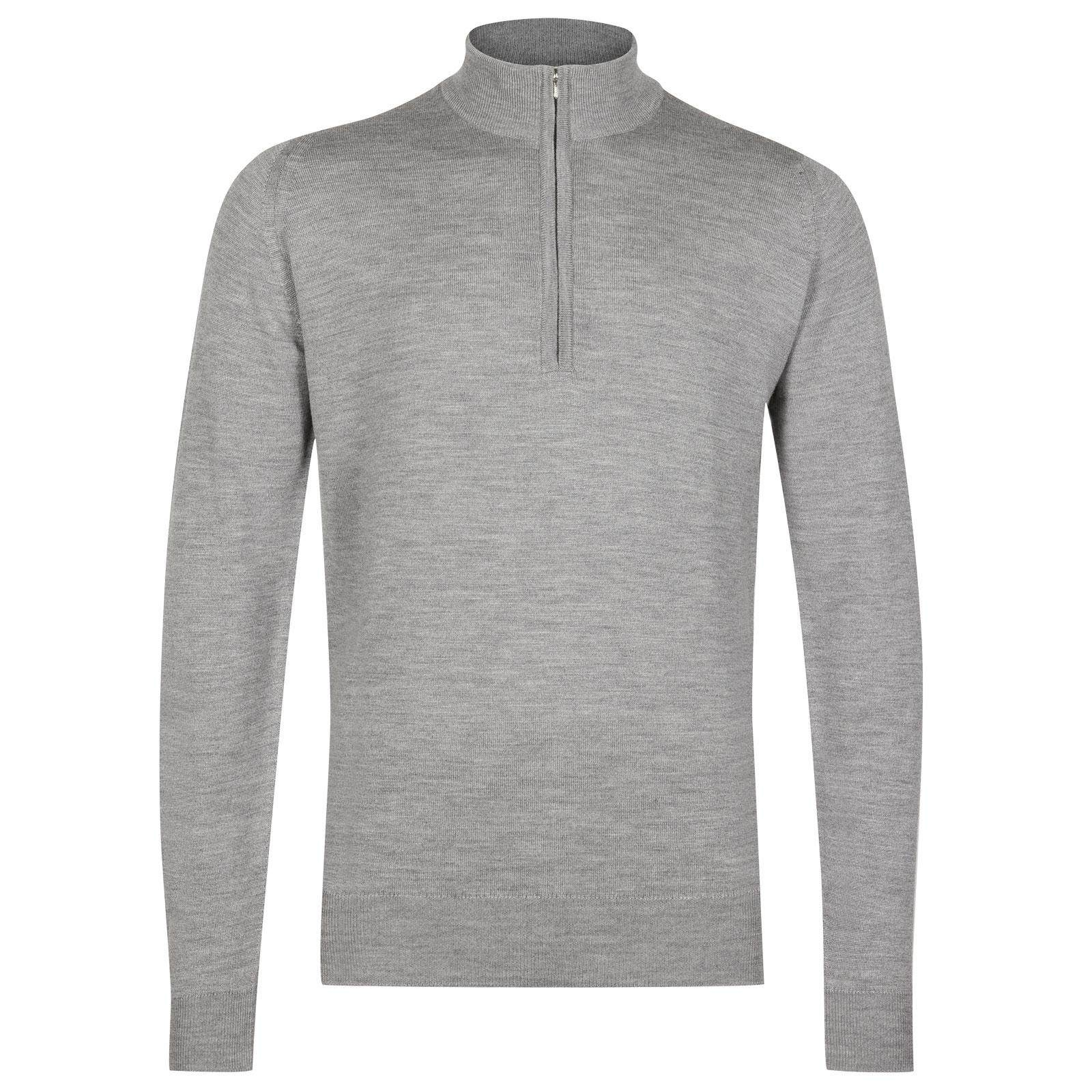 John Smedley tapton Merino Wool Pullover in Silver-XXL