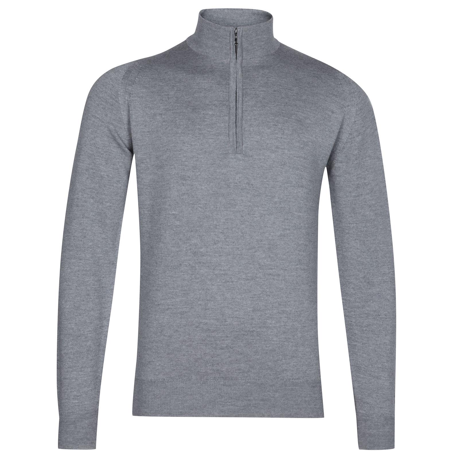 John Smedley tapton Merino Wool Pullover in Silver-L