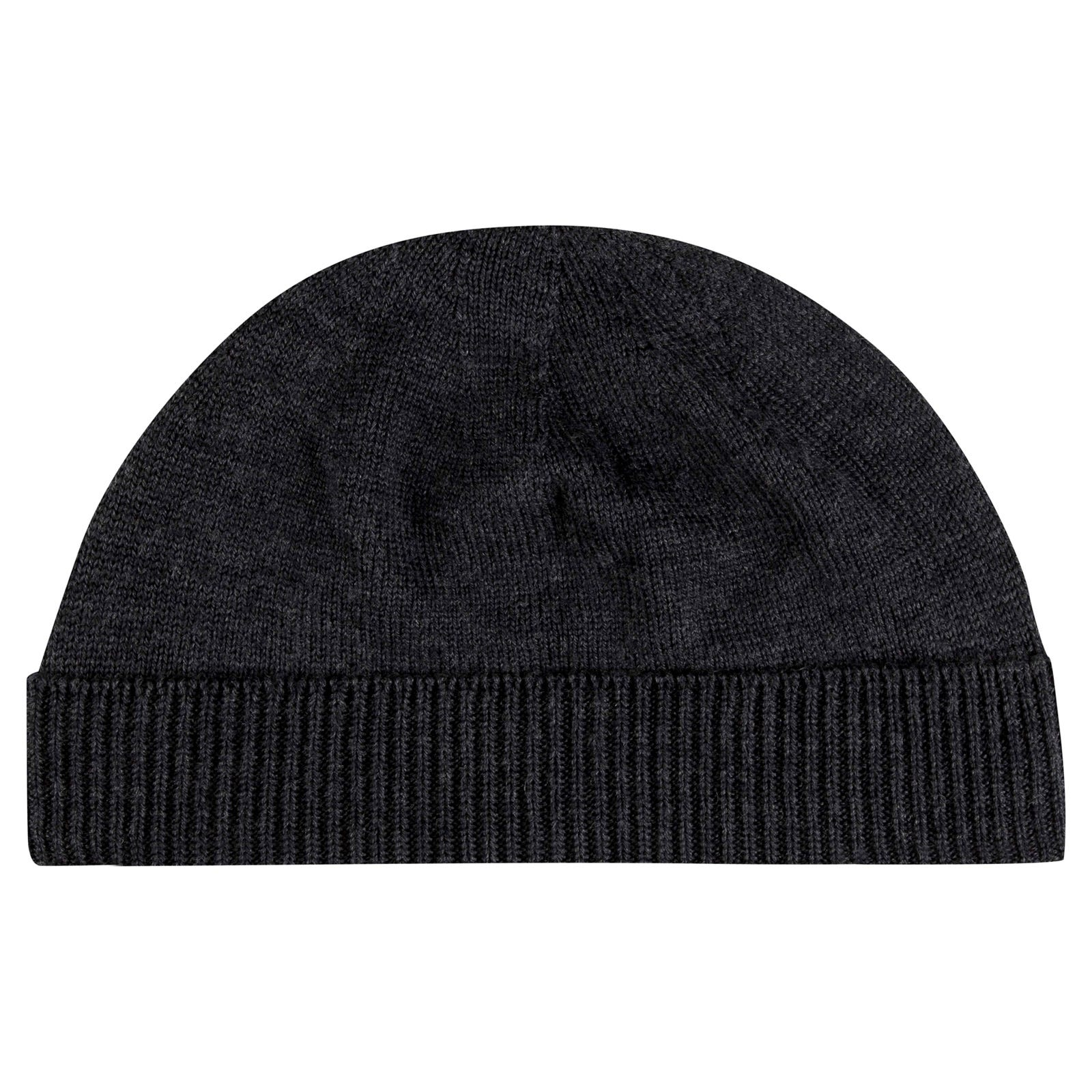 John Smedley Taurus Merino Wool Hat in Charcoal-ONE