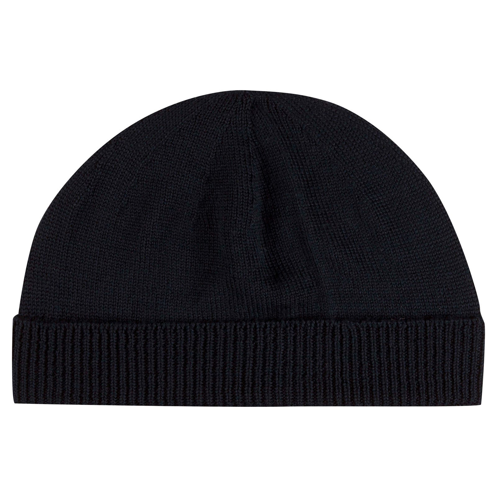 John Smedley Taurus Merino Wool Hat in Midnight-ONE