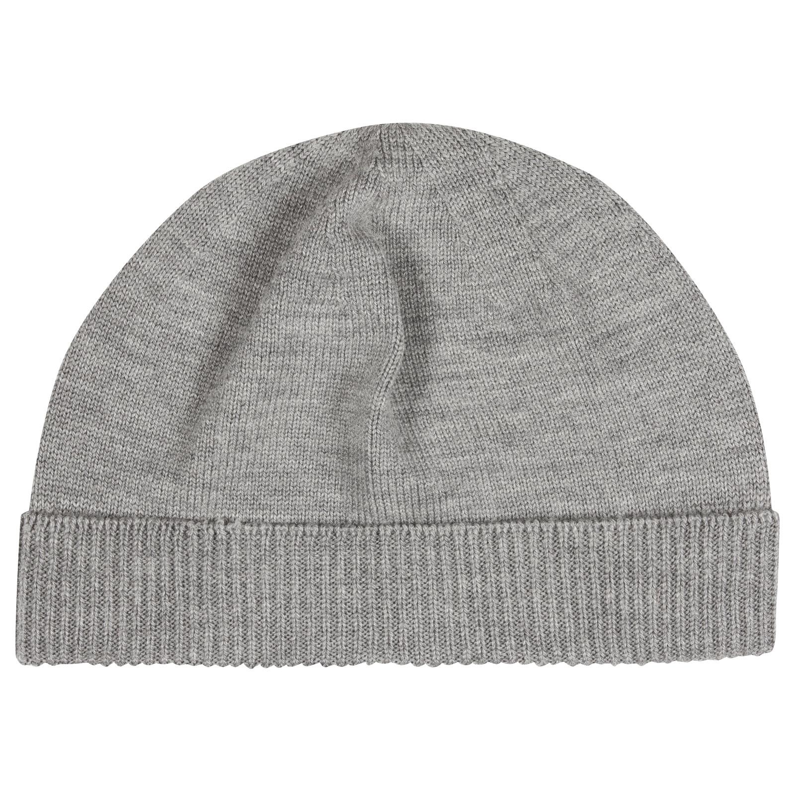 John Smedley Taurus Merino Wool Hat in Silver-ONE