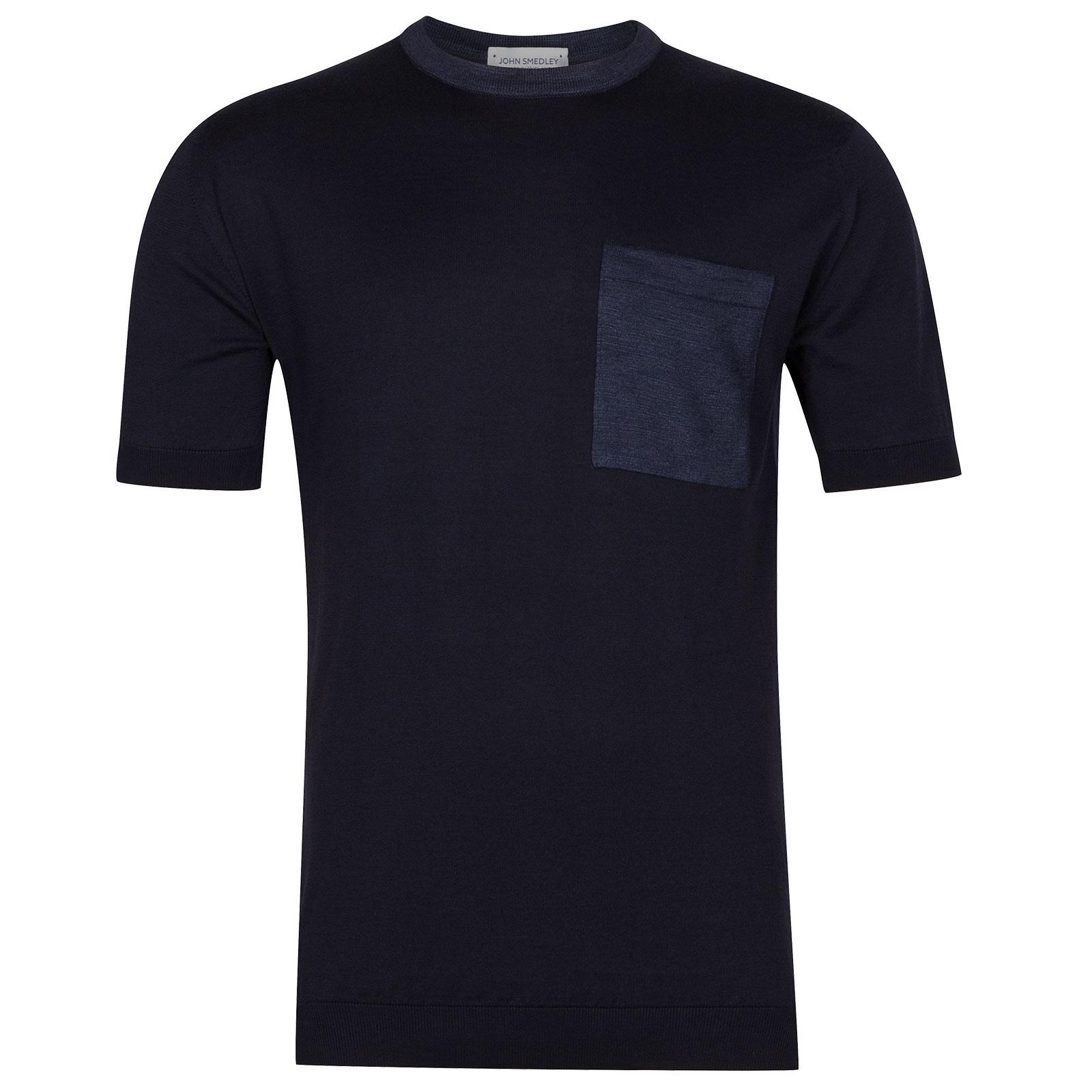 John Smedley Teel in Midnight T-Shirt-LGE