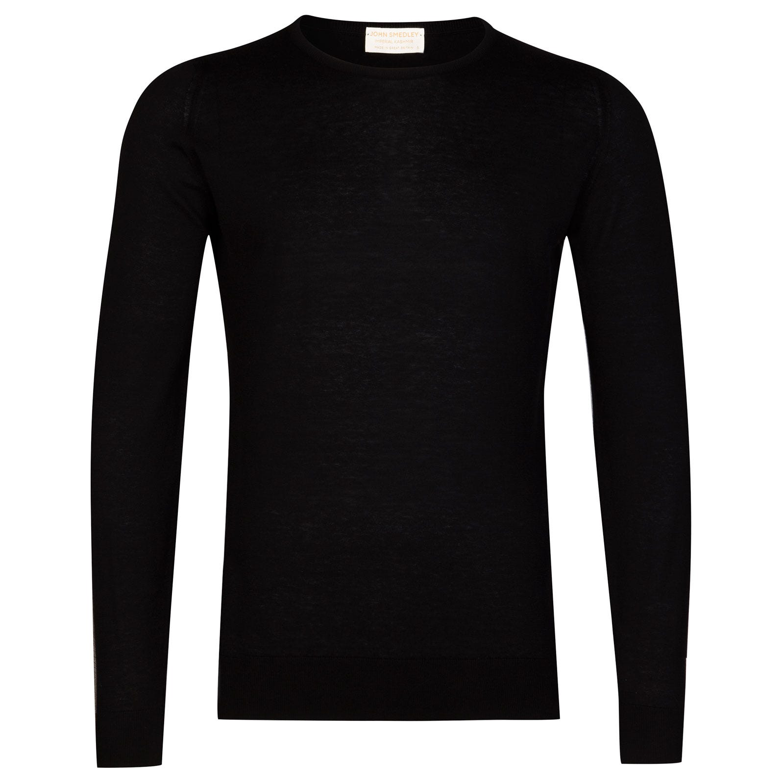 John Smedley theon Sea Island Cotton and Cashmere Pullover in Black-L