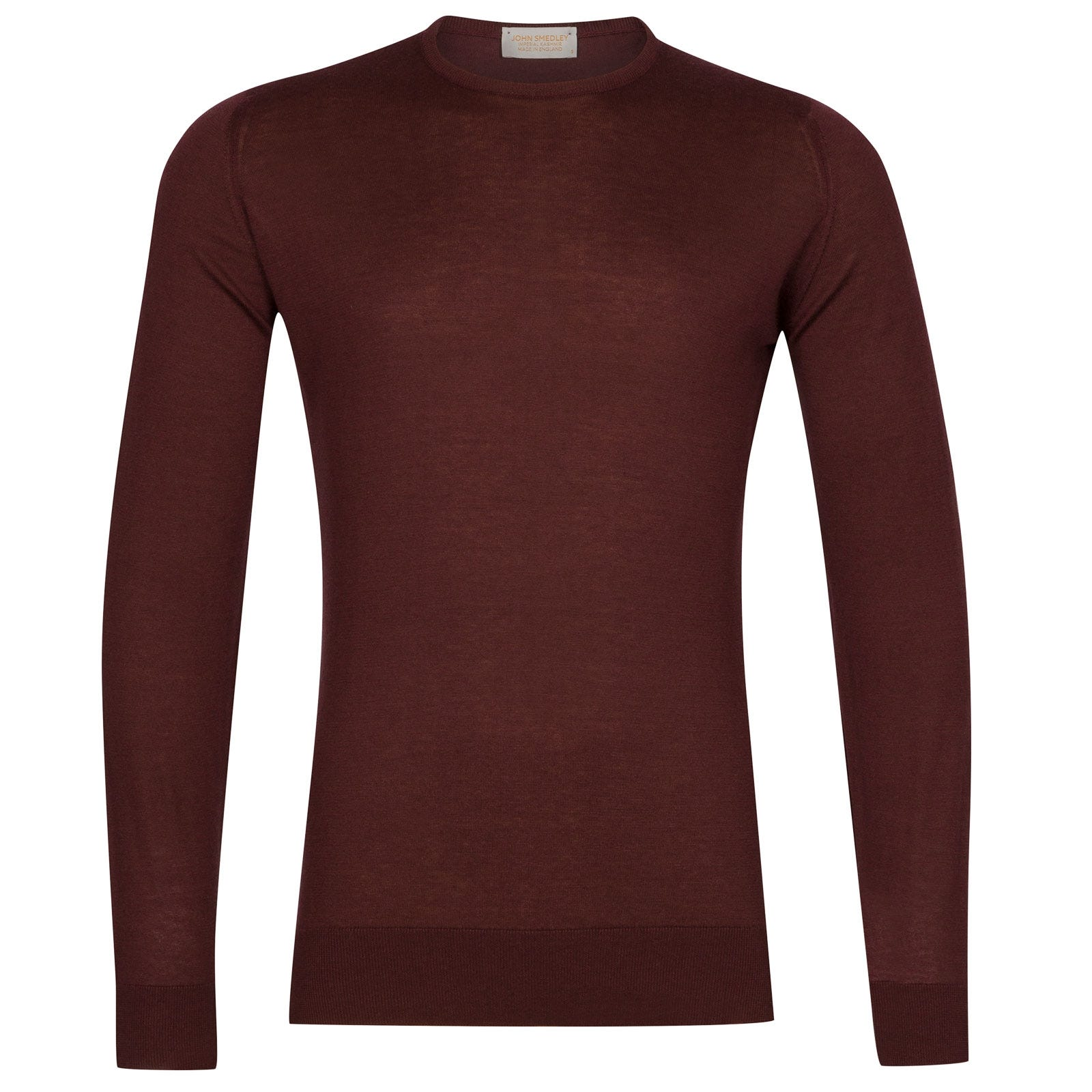 John Smedley theon Sea Island Cotton and Cashmere Pullover in Burgundy