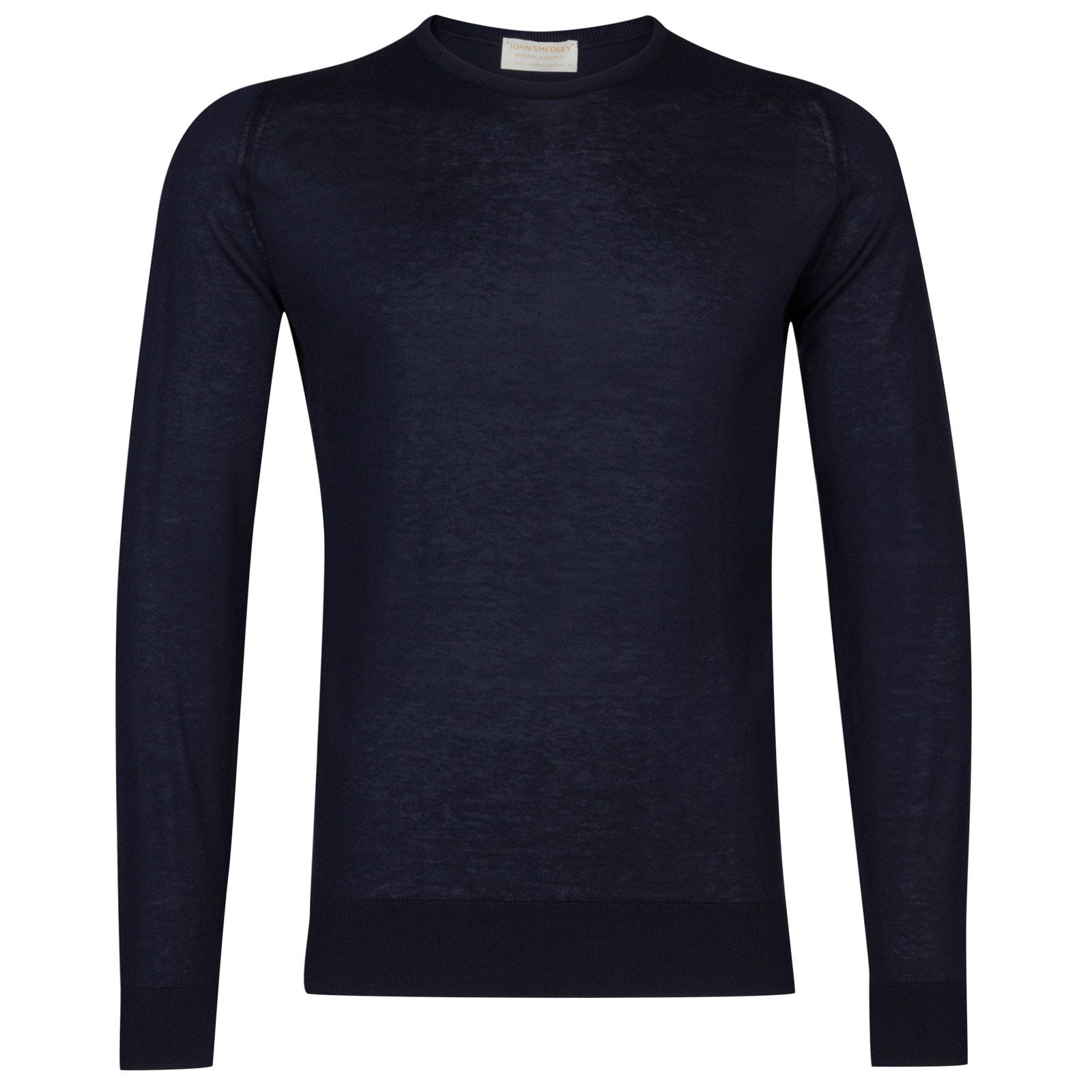 John Smedley theon Sea Island Cotton and Cashmere Pullover in Navy-M
