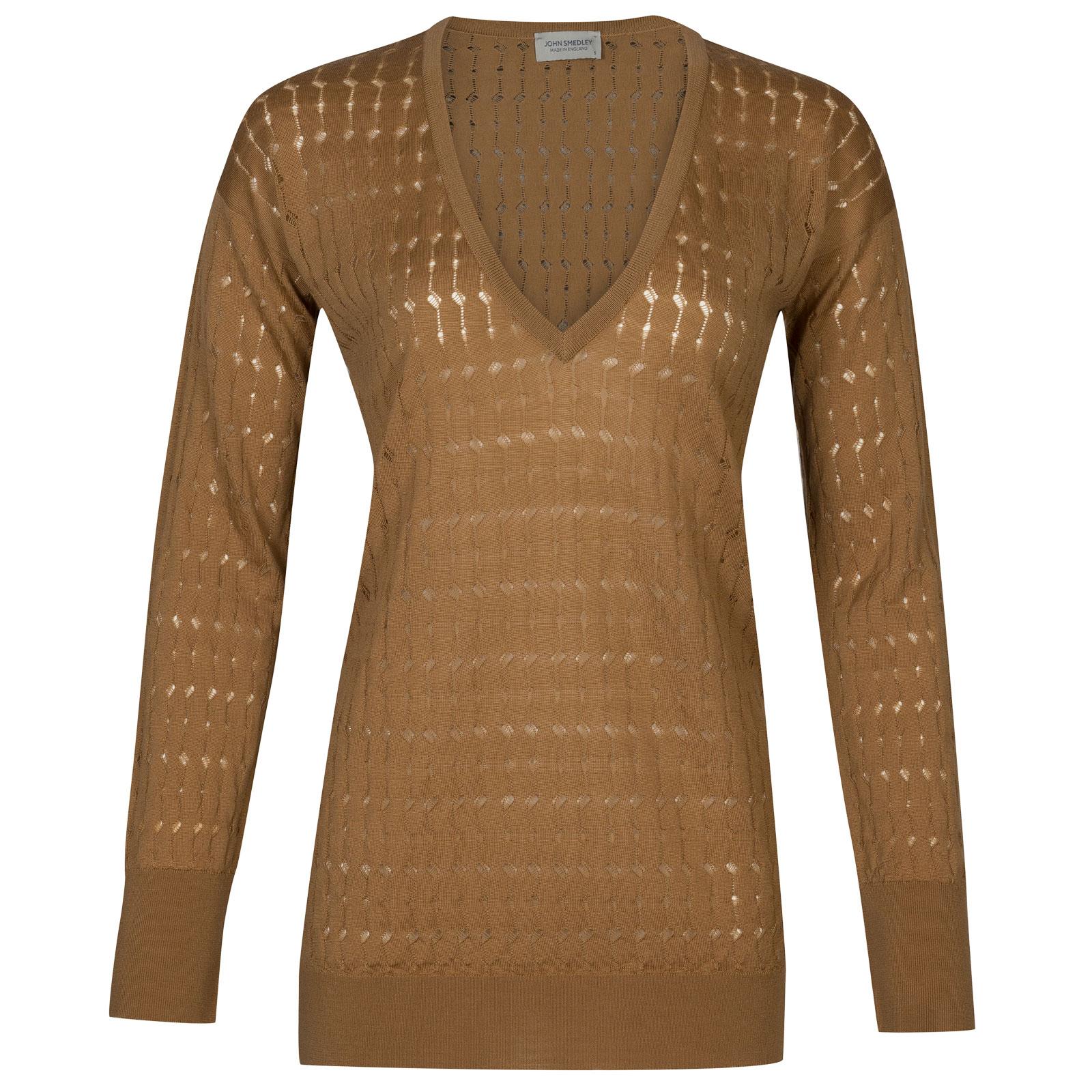 John Smedley tilia Merino Wool Sweater in Camel-S