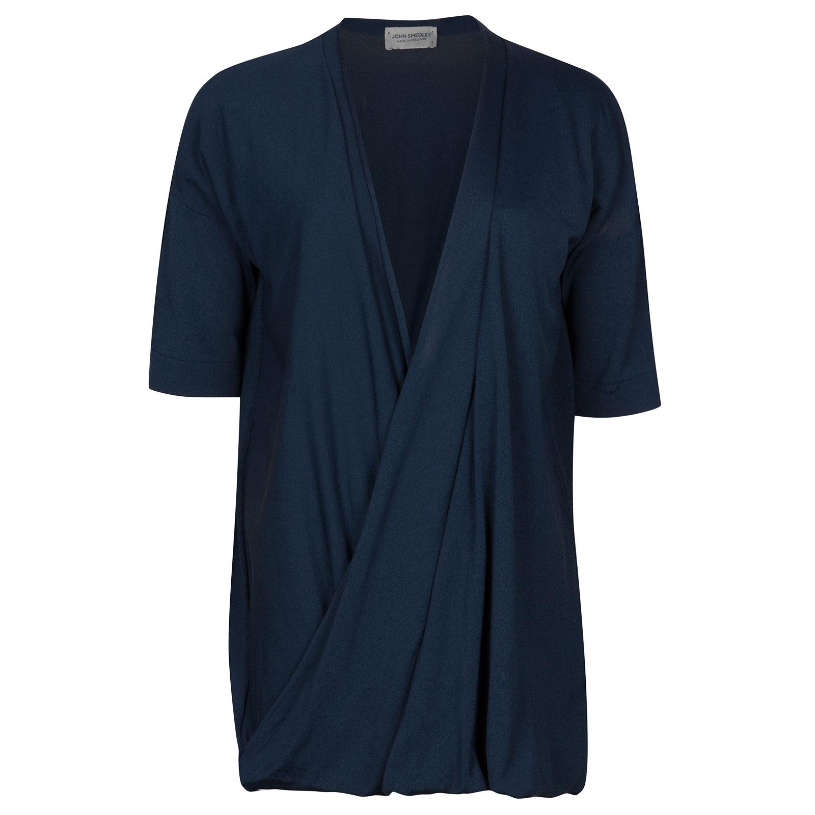 John Smedley Tiptree Merino Wool T-shirt in Indigo-S