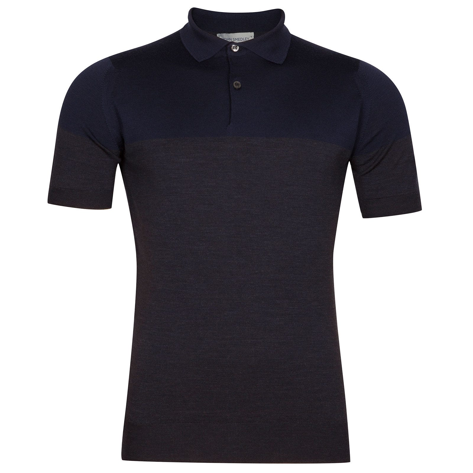 John Smedley Toller Extra Fine Merino Wool Shirt in Hepburn Smoke-L