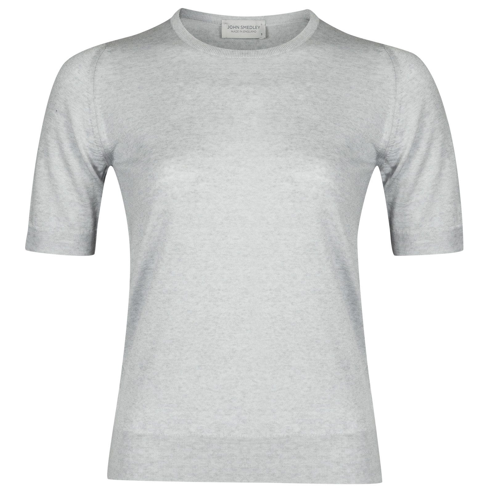 John Smedley trieste Merino Wool Sweater in Bardot Grey-M