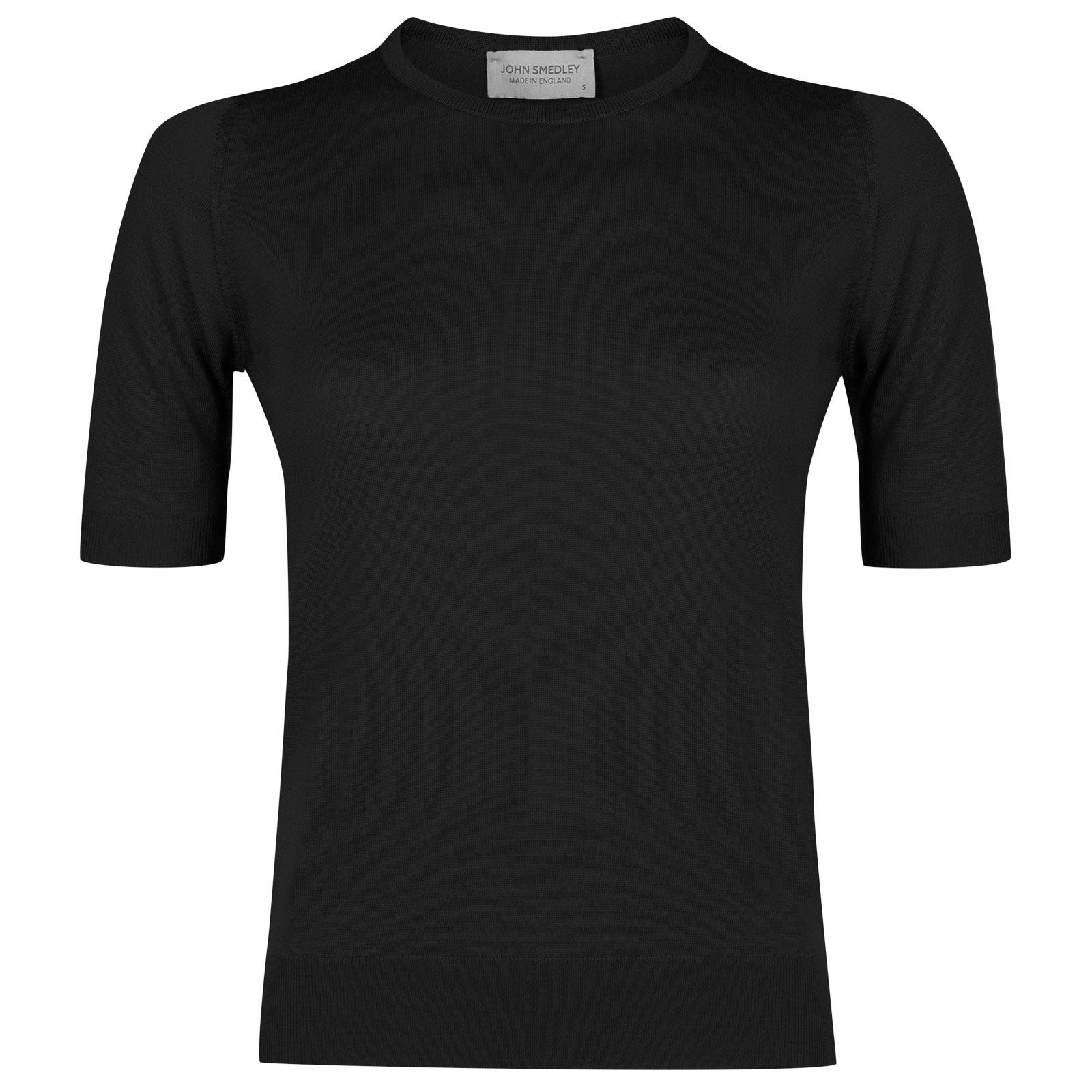 John Smedley trieste Merino Wool Sweater in Black-M