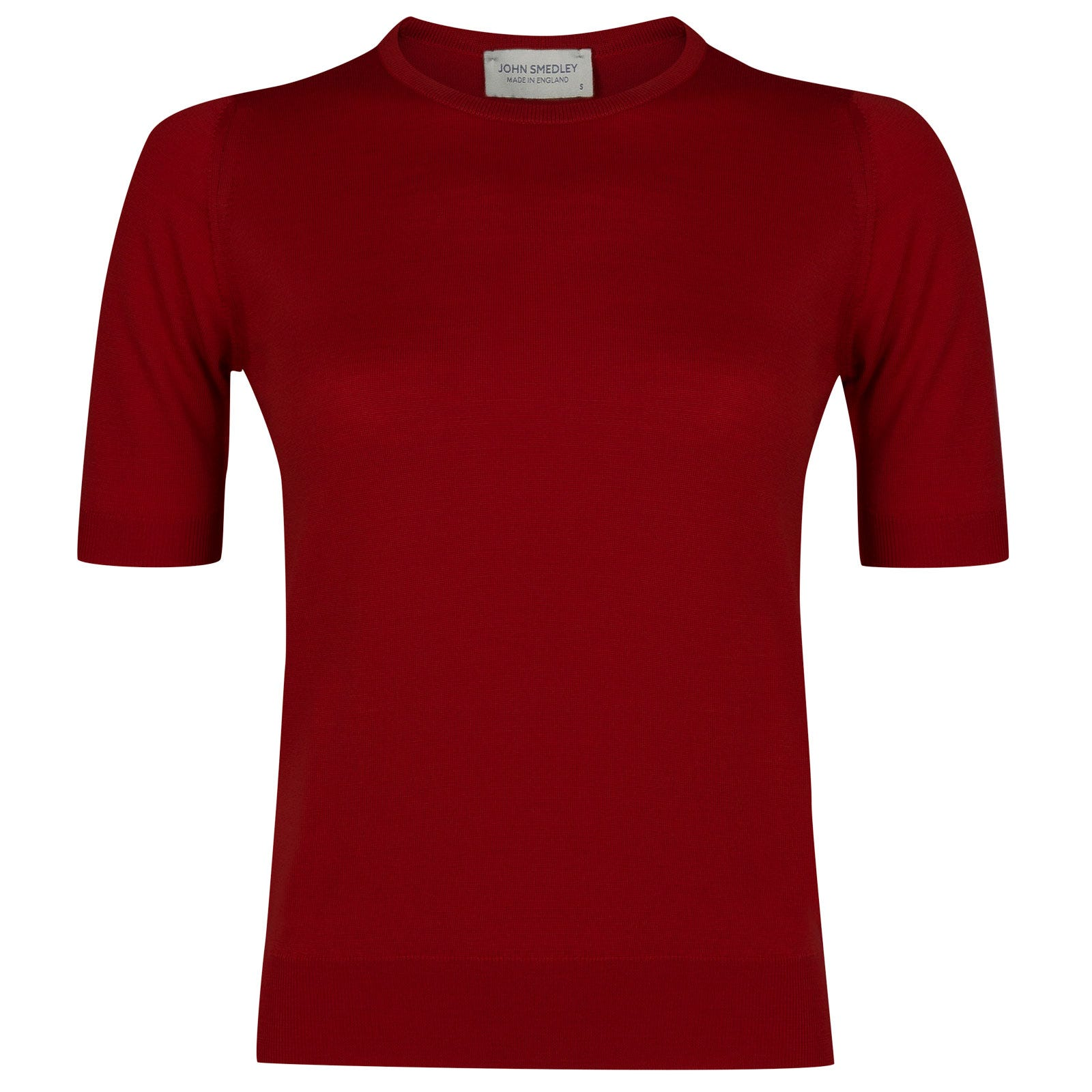 John Smedley trieste Merino Wool Sweater in Crimson Forest-M