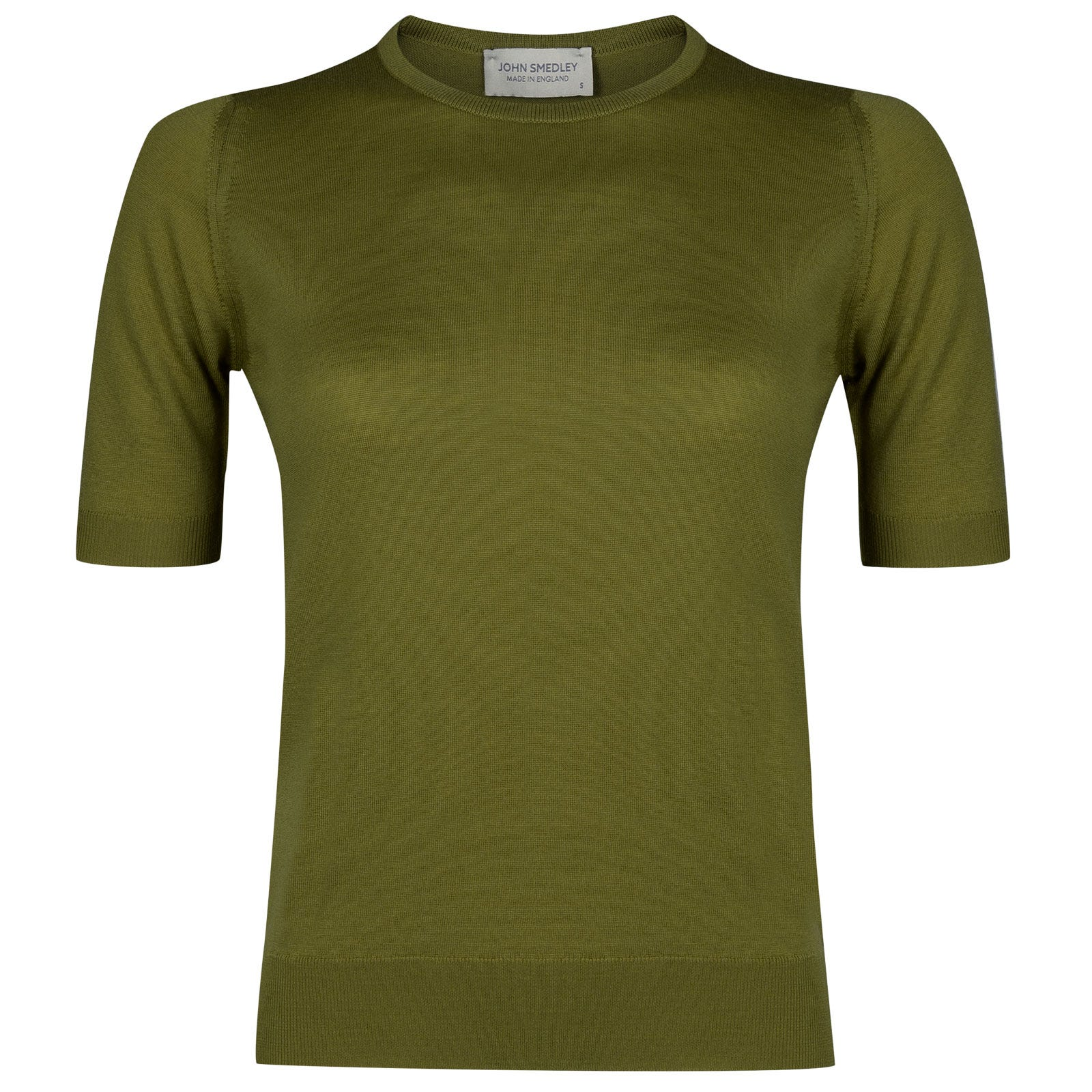 John Smedley trieste Merino Wool Sweater in Lumsdale Green-M