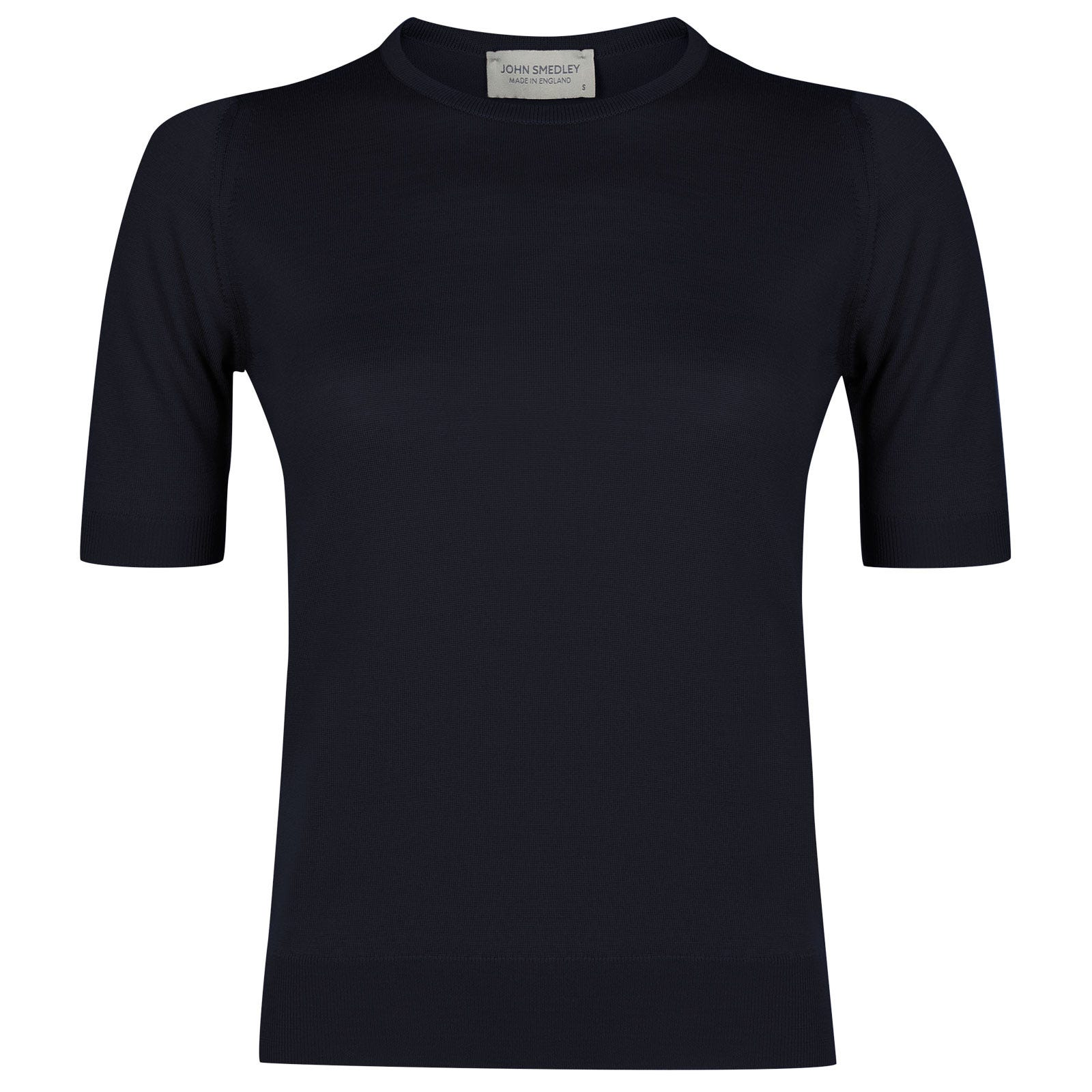 John Smedley trieste Merino Wool Sweater in Midnight-S