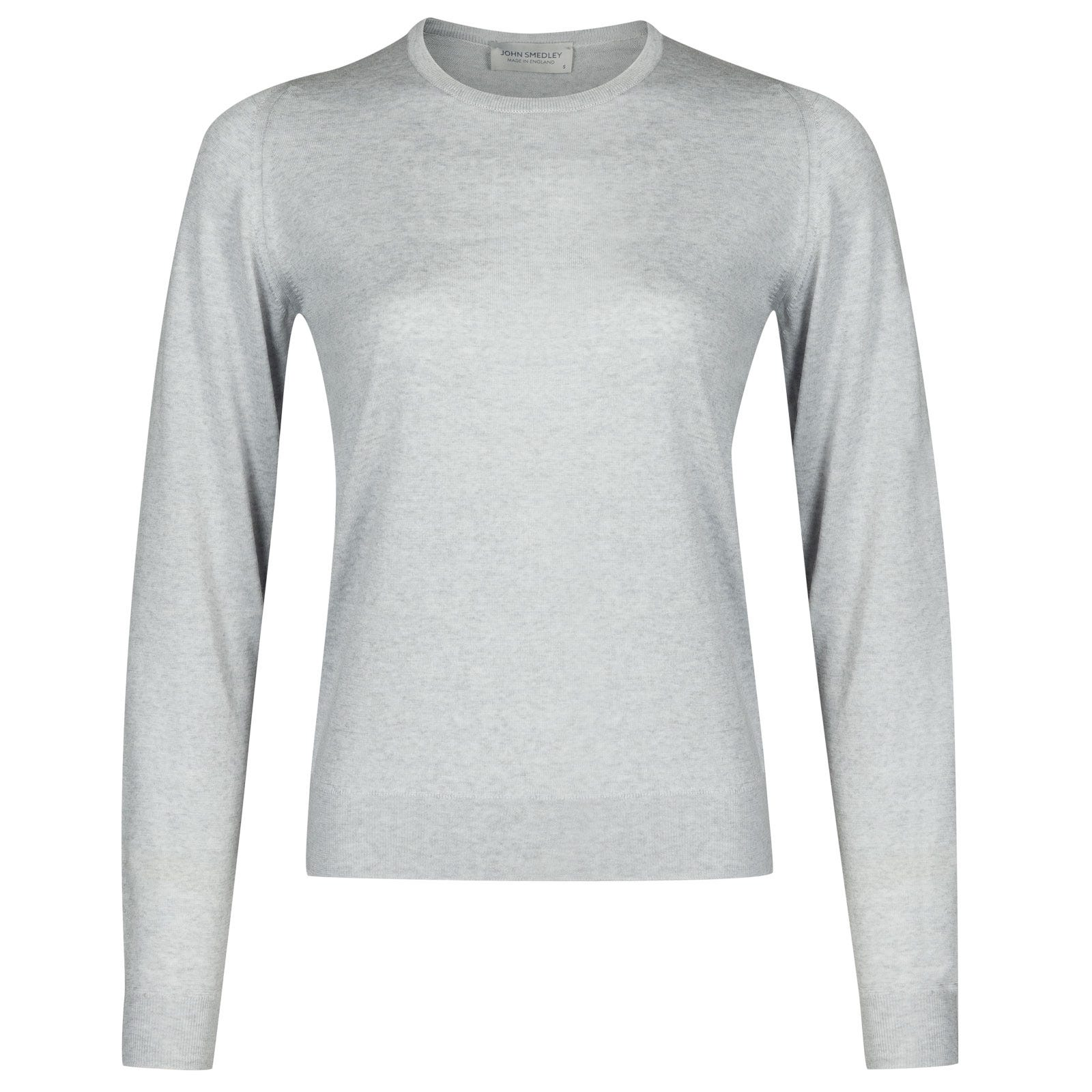 John Smedley venice Merino Wool Sweater in Bardot Grey-S