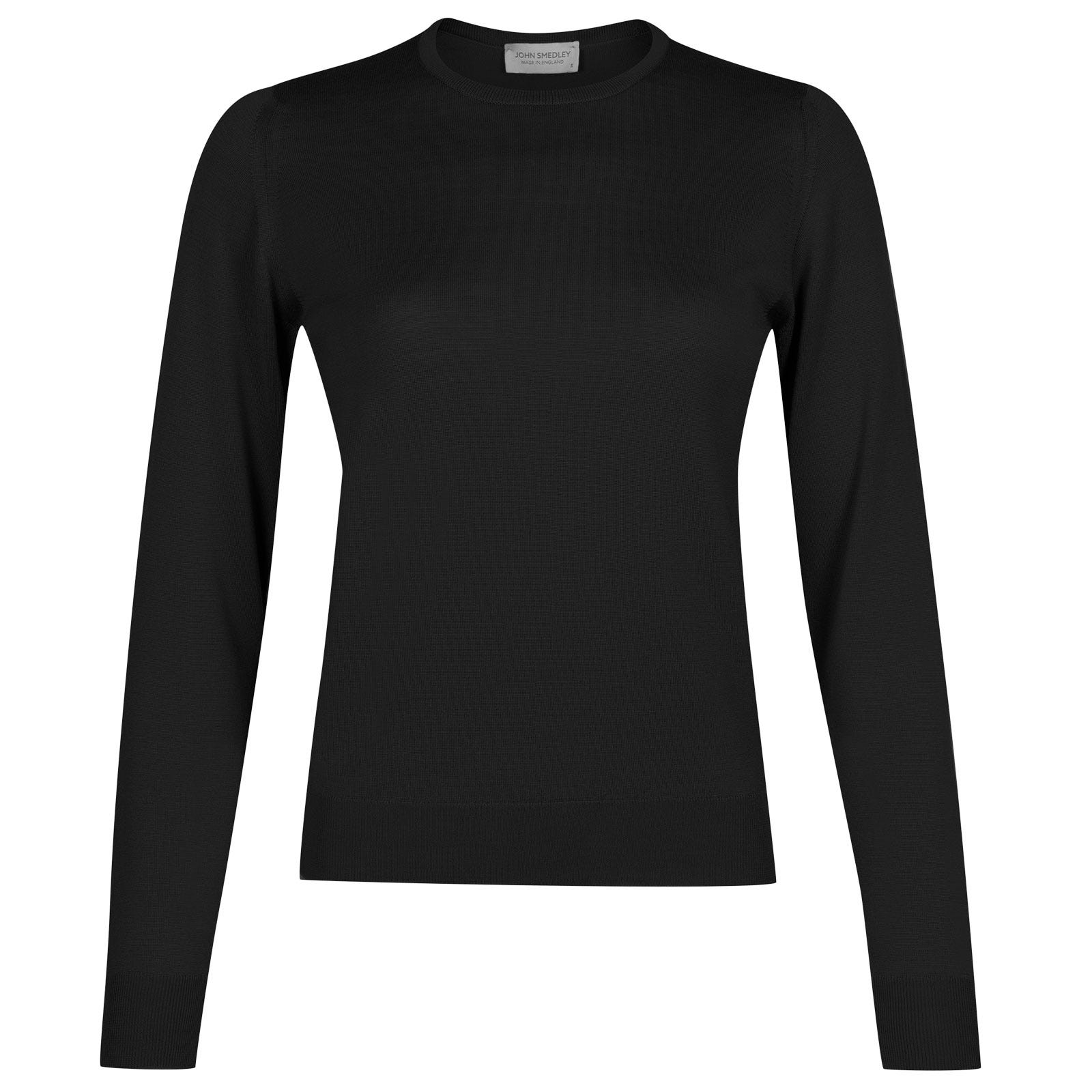 John Smedley venice Merino Wool Sweater in Black-S