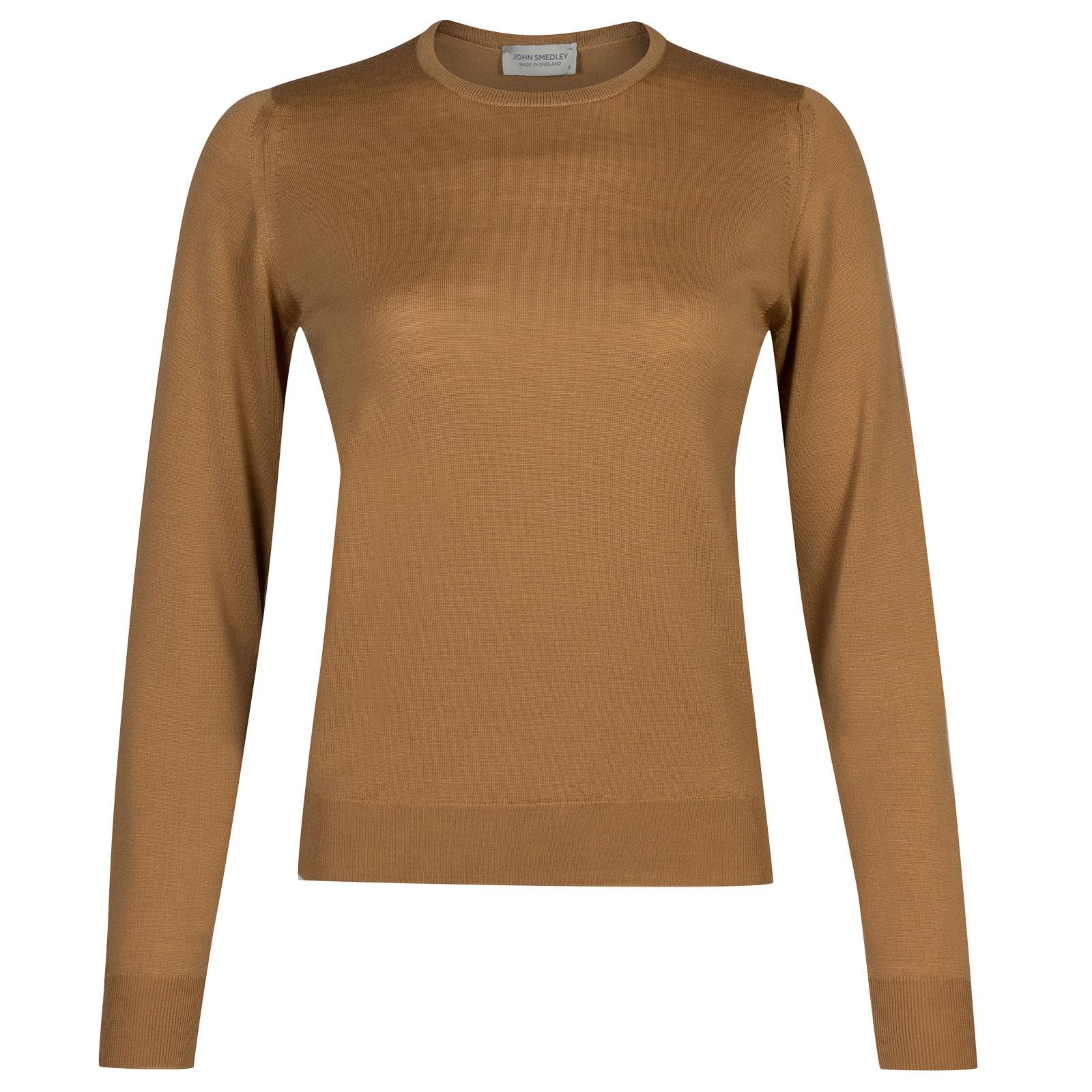 John Smedley venice Merino Wool Sweater in Camel-S