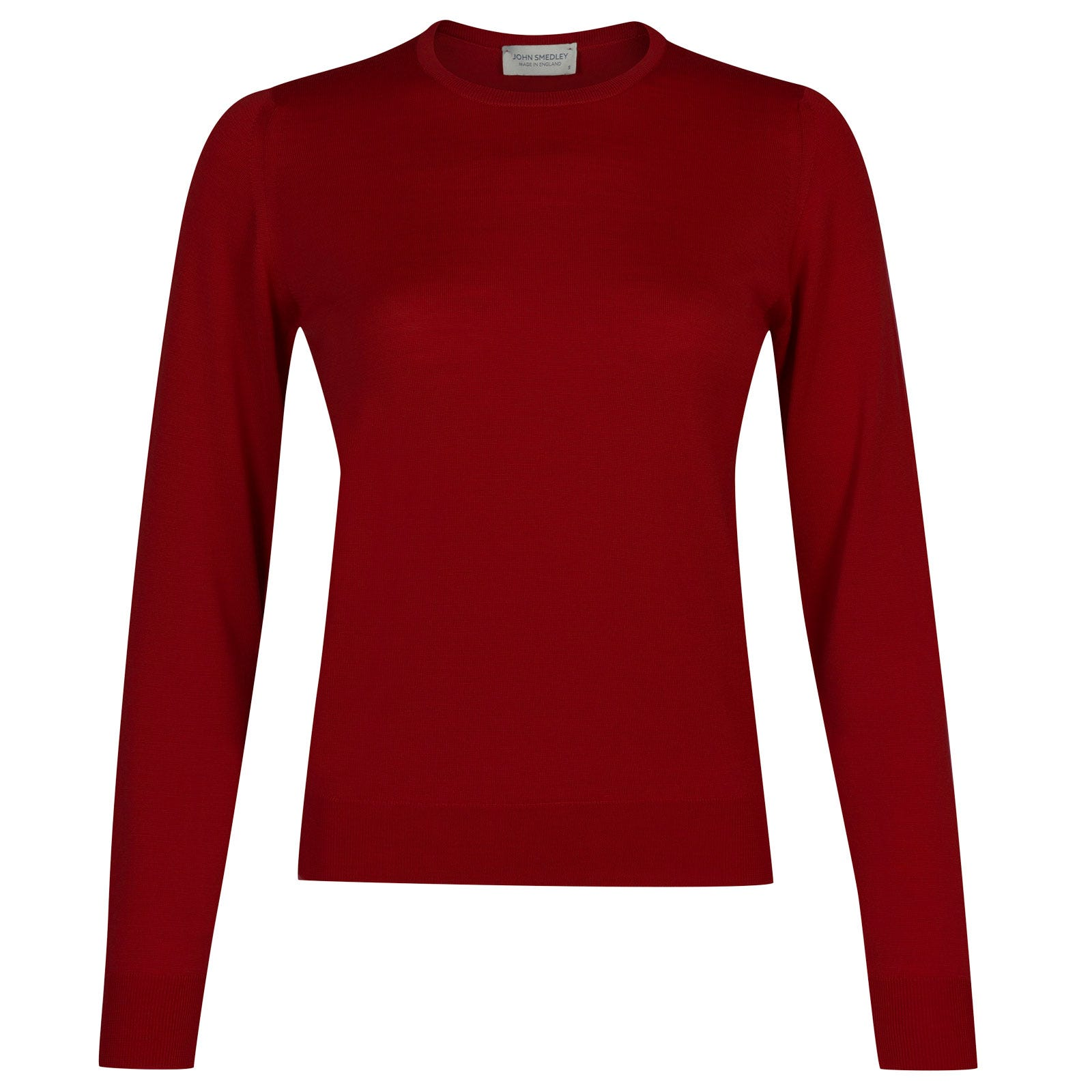 John Smedley venice Merino Wool Sweater in Crimson Forest-S