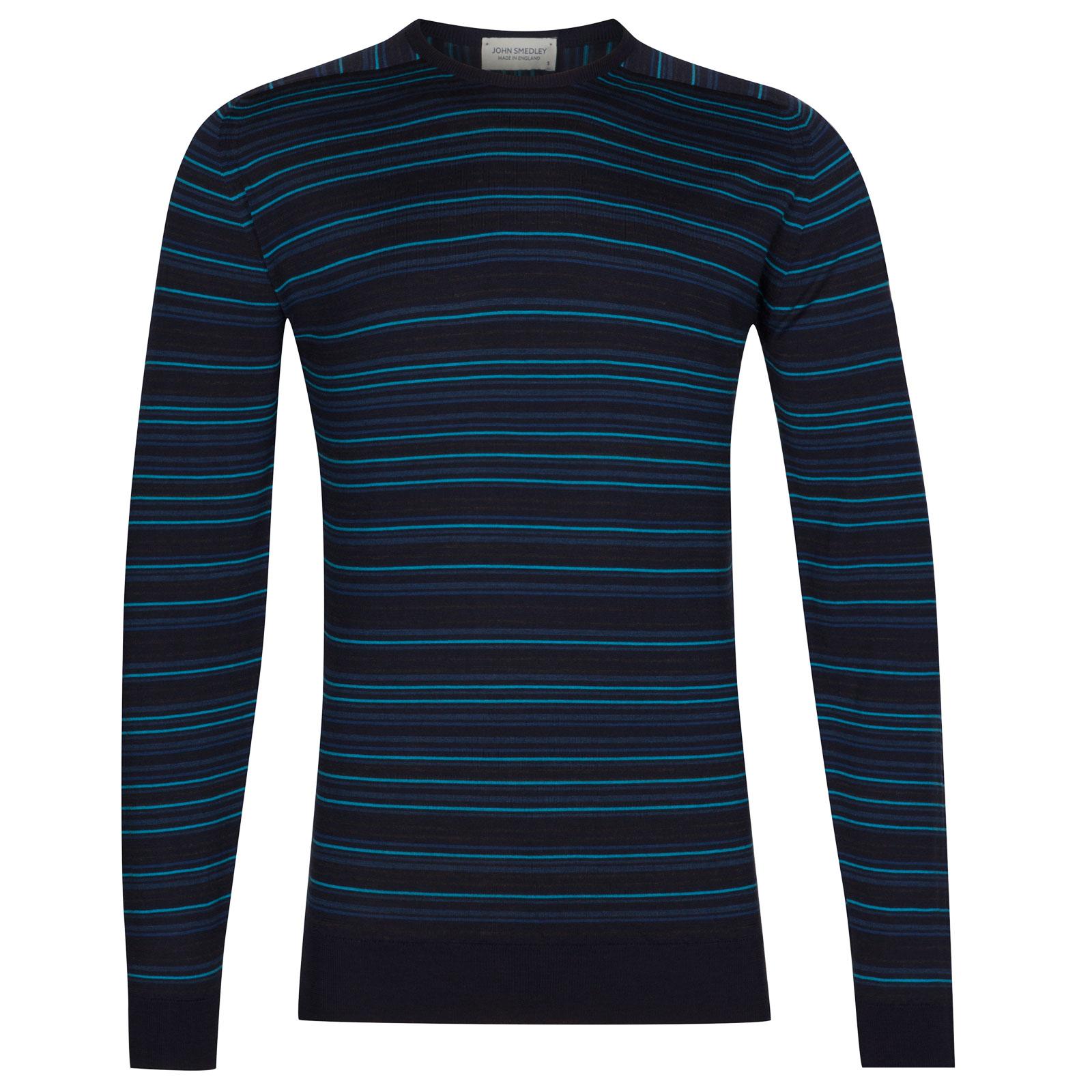 John Smedley Watson Extra Fine Merino Pullover in Midnight-L